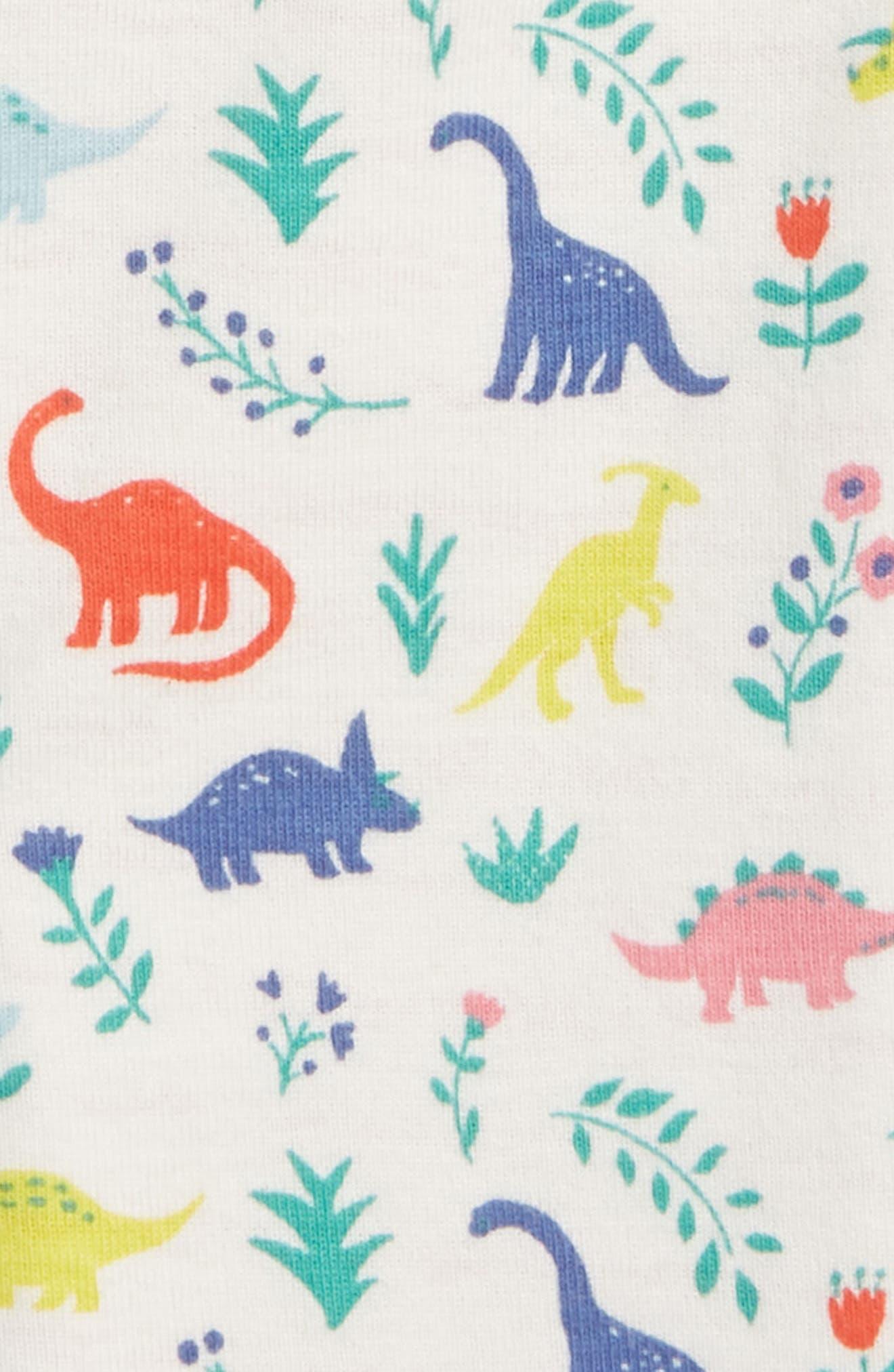 Reversible Print Pants,                             Alternate thumbnail 3, color,                             Multi Dino Floral