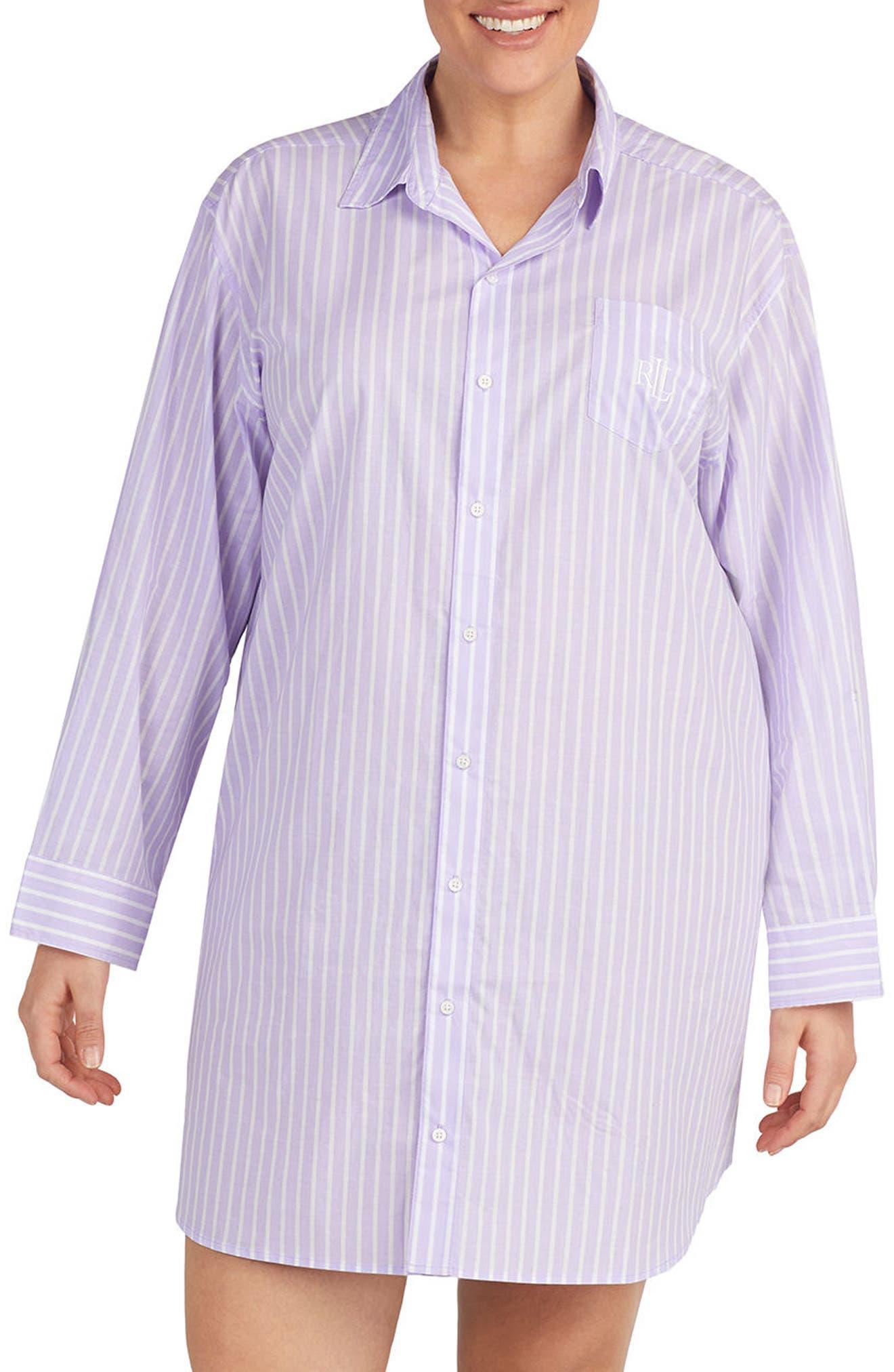 Lauren Ralph Lauren Print Sleep Shirt (Plus Size)