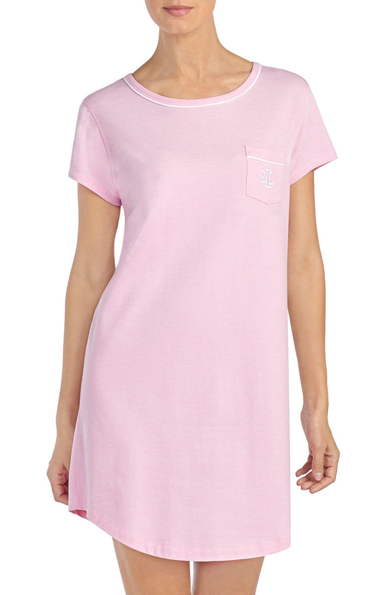 Nightgown,                             Main thumbnail 1, color,                             Pink