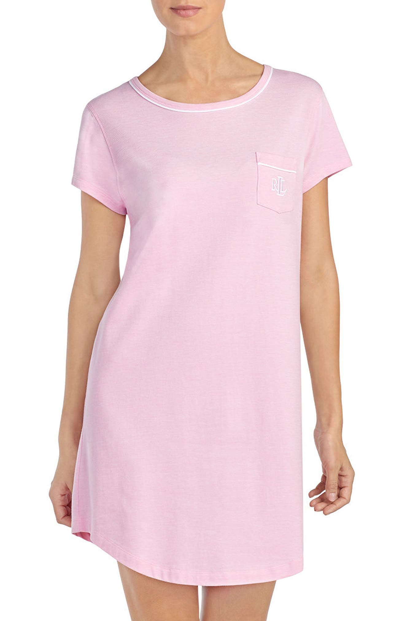 Nightgown,                         Main,                         color, Pink