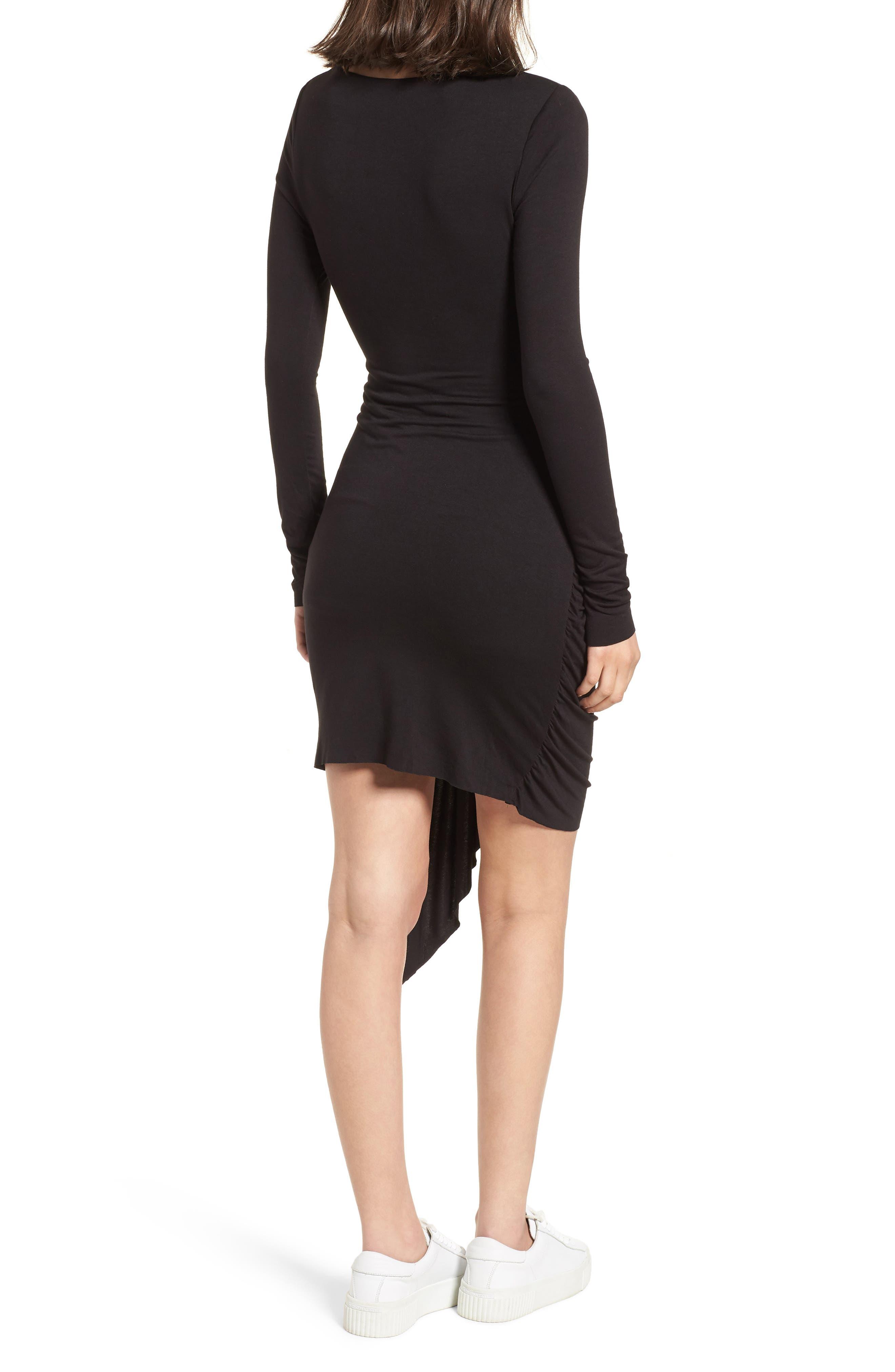V-Neck Dress,                             Alternate thumbnail 2, color,                             Black Multi