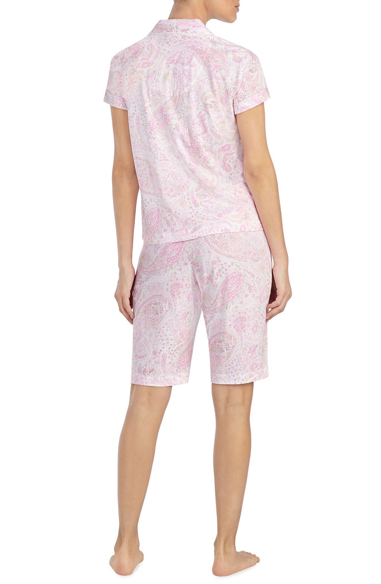 Short Pajamas,                             Alternate thumbnail 2, color,                             Pink Print