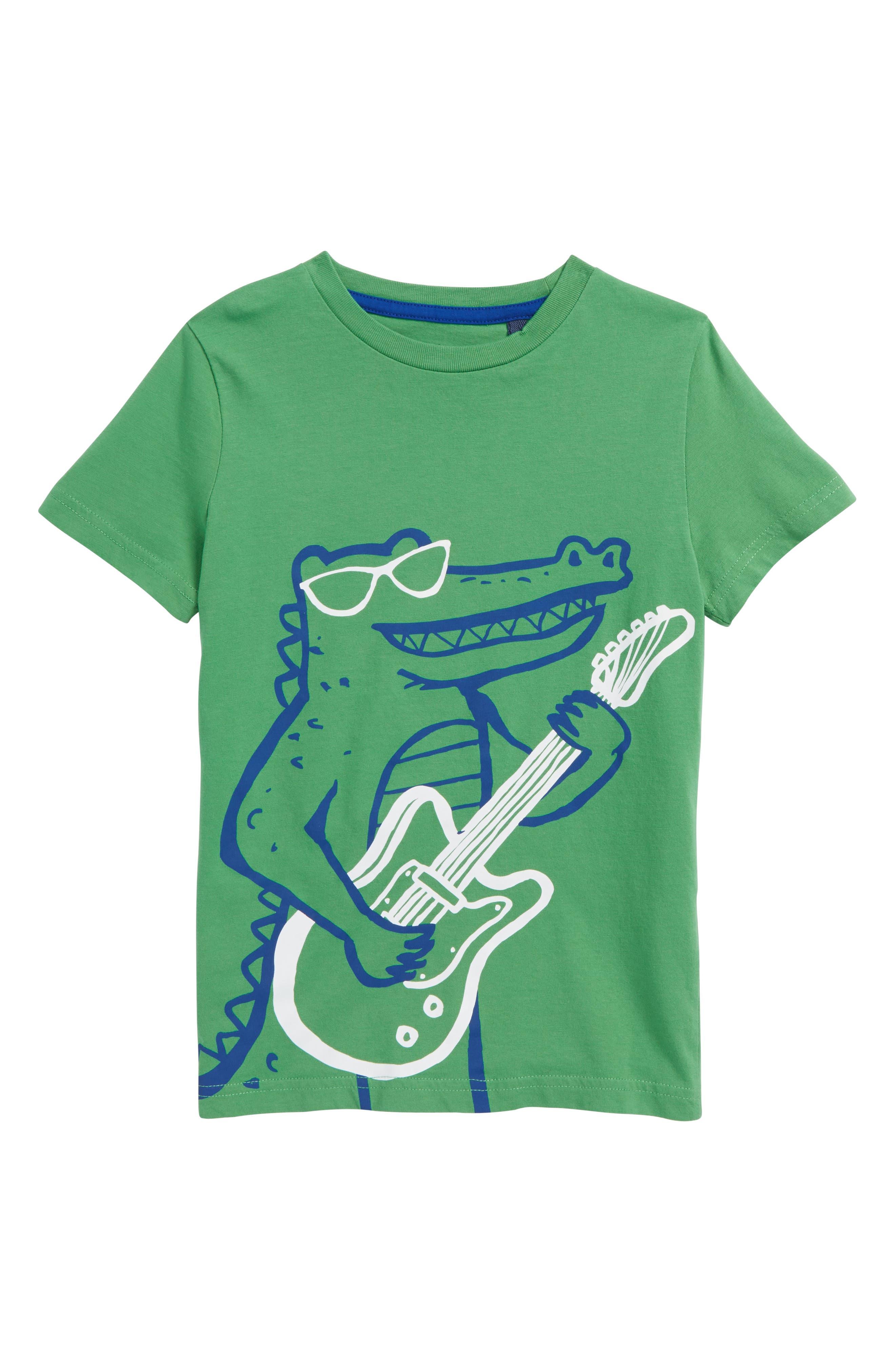 Arty Croc T-Shirt,                         Main,                         color, Iguana Green Croc