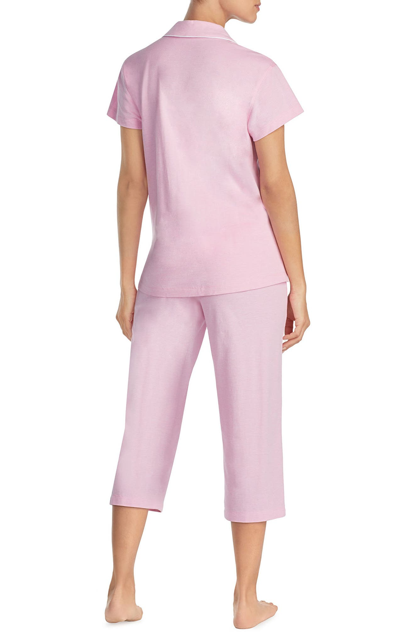 Knit Capri Pajamas,                             Alternate thumbnail 2, color,                             Pink