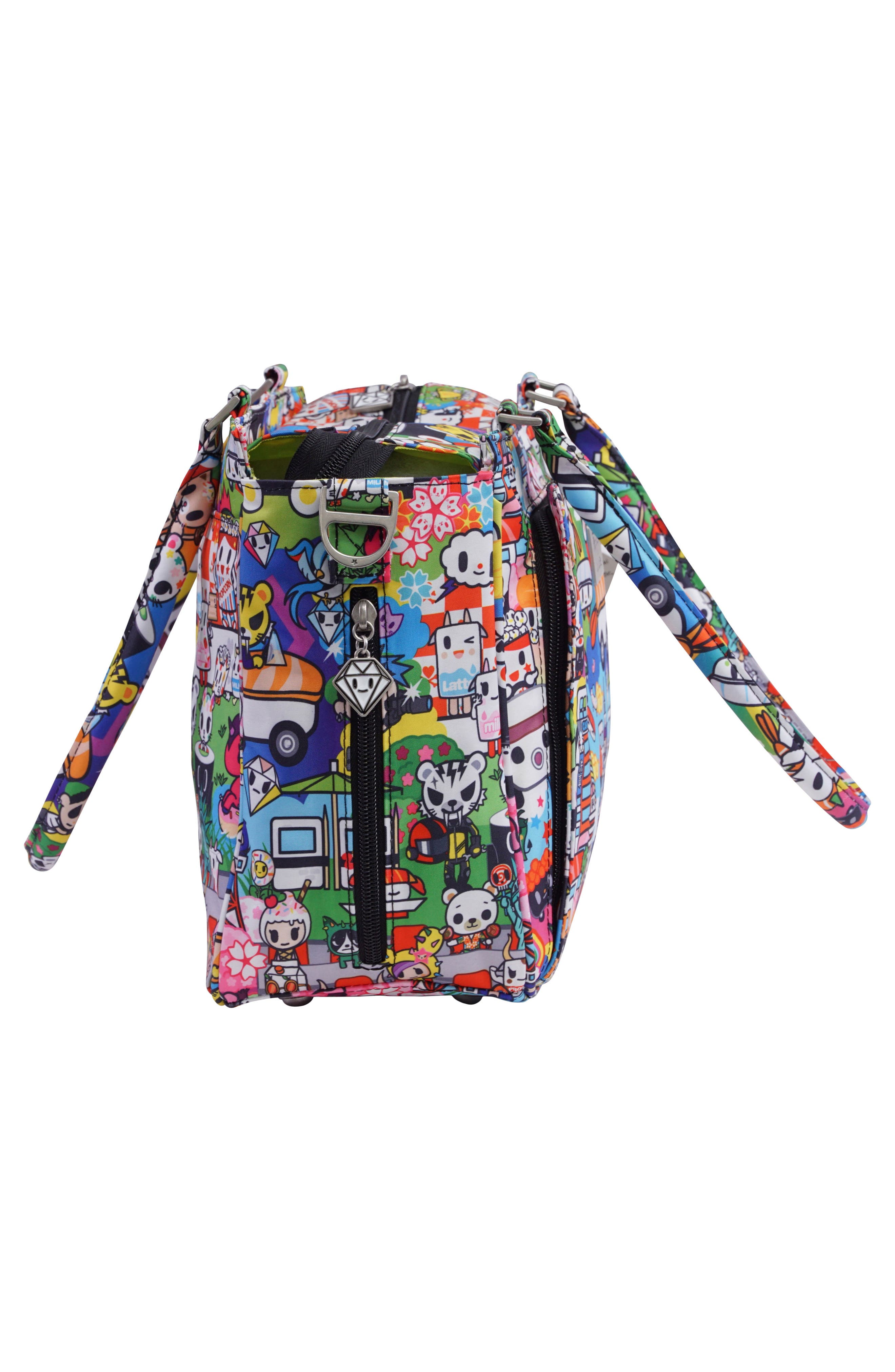 x tokidoki Be Sassy Diaper Tote Bag,                             Alternate thumbnail 3, color,                             Sushi Cars