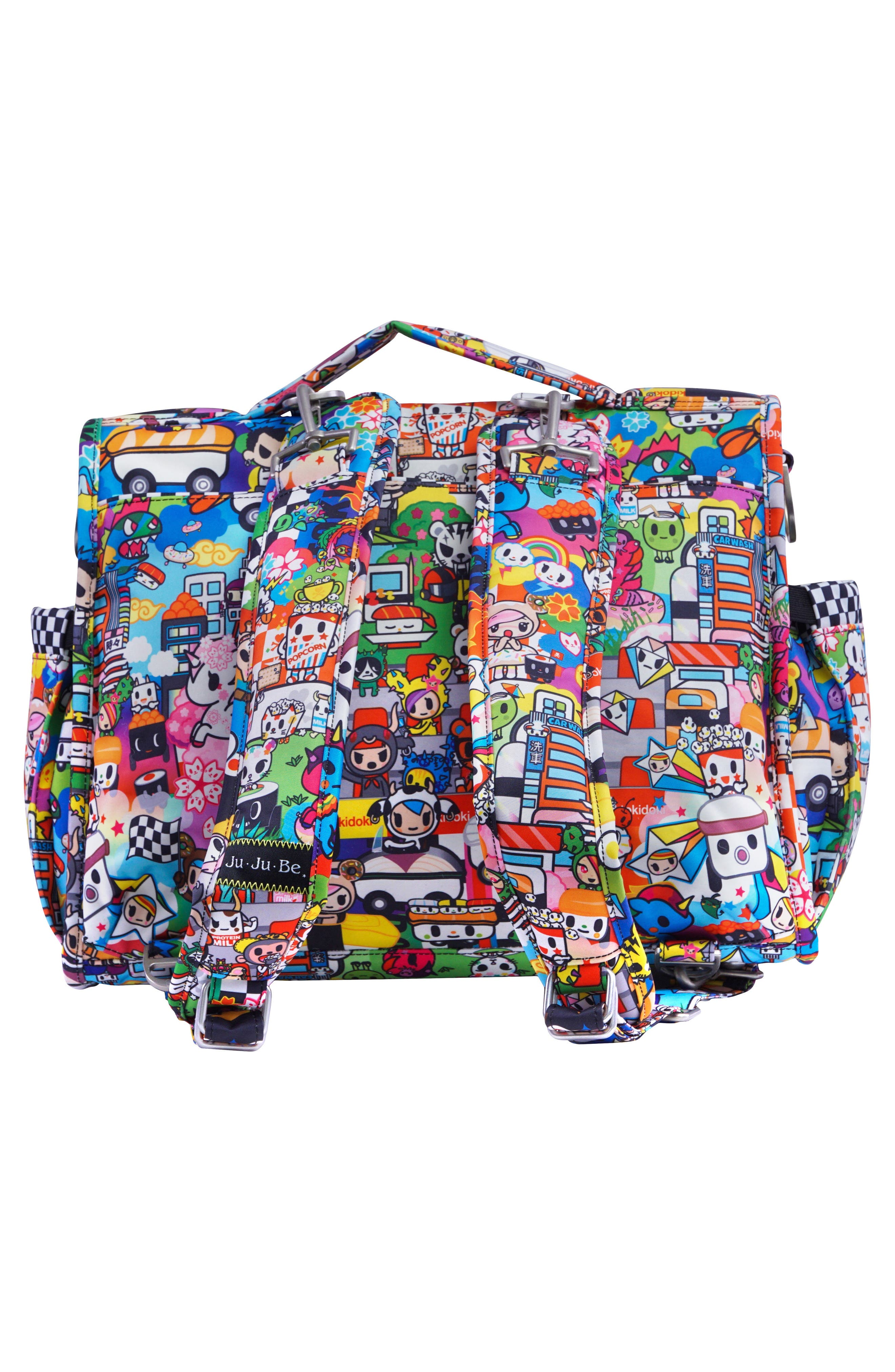 tokidoki x Ju-Ju-Be 'BFF' Diaper Bag,                             Alternate thumbnail 3, color,                             Sushi Cars