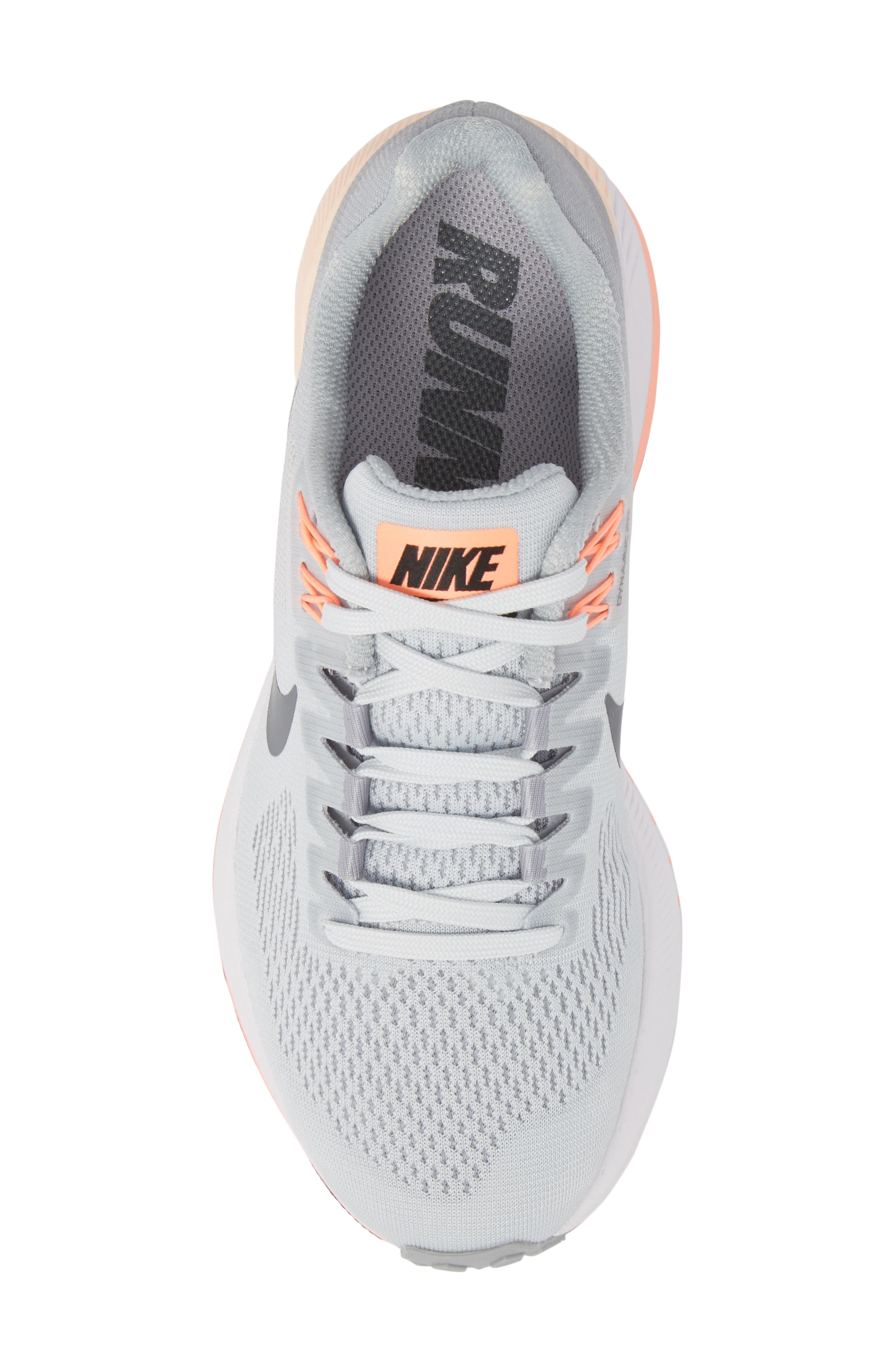 Air Zoom Structure 21 Running Shoe,                             Alternate thumbnail 5, color,                             Wolf Grey/ Dark Grey