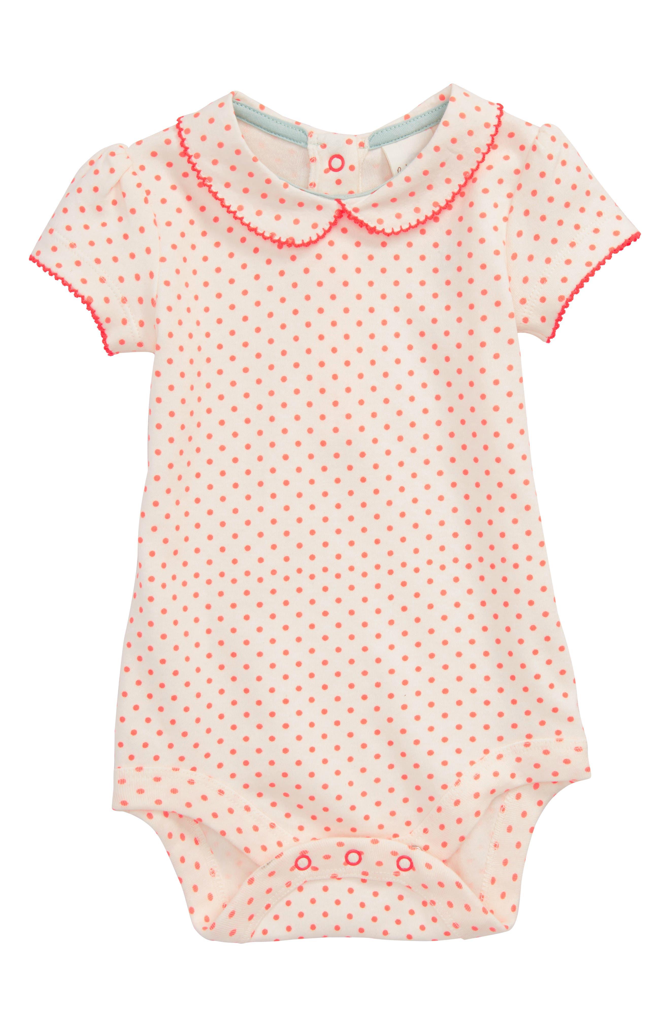Main Image - Mini Boden Summer Collar Bodysuit (Baby Girls)