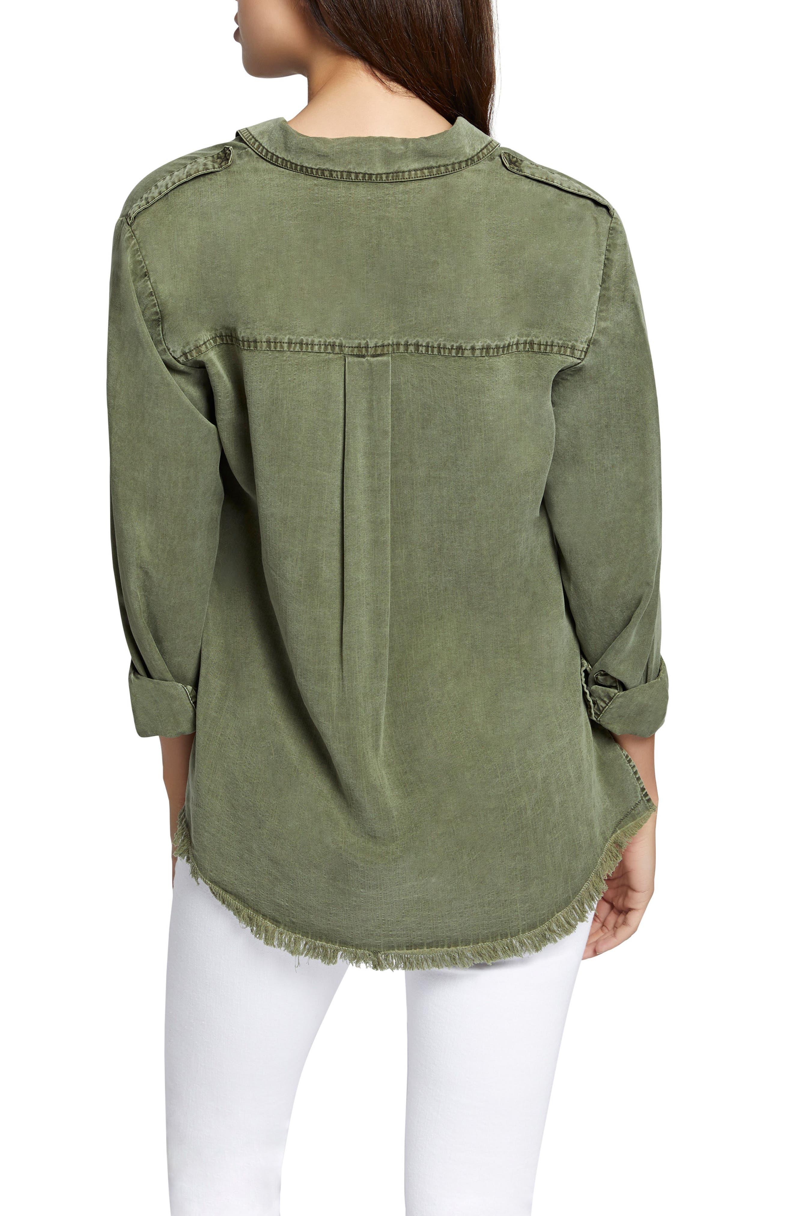 Raw Hem Shirt,                             Alternate thumbnail 2, color,                             Cadet