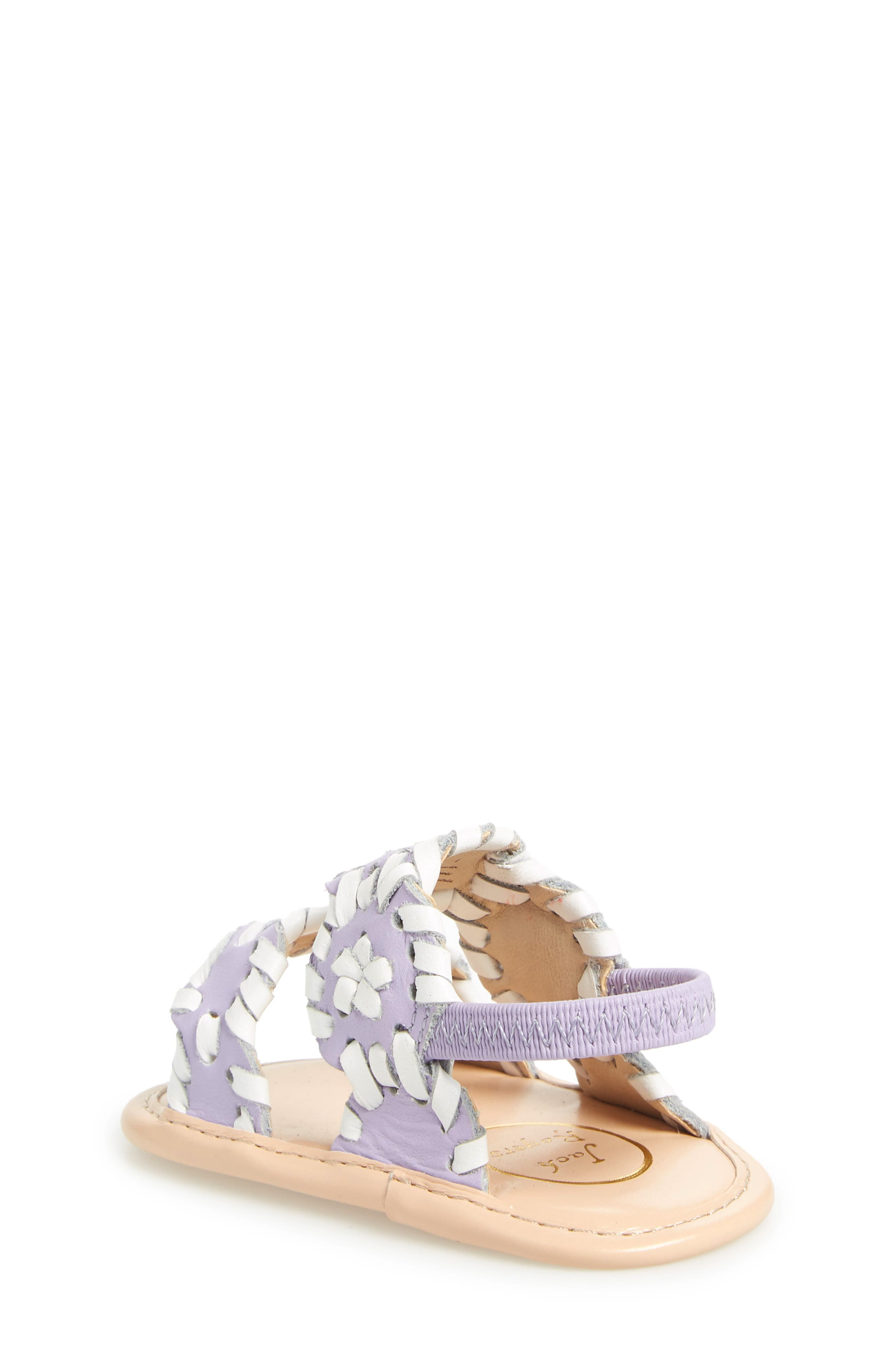 'Lauren' Sandal,                             Alternate thumbnail 2, color,                             Lilac/ White Leather