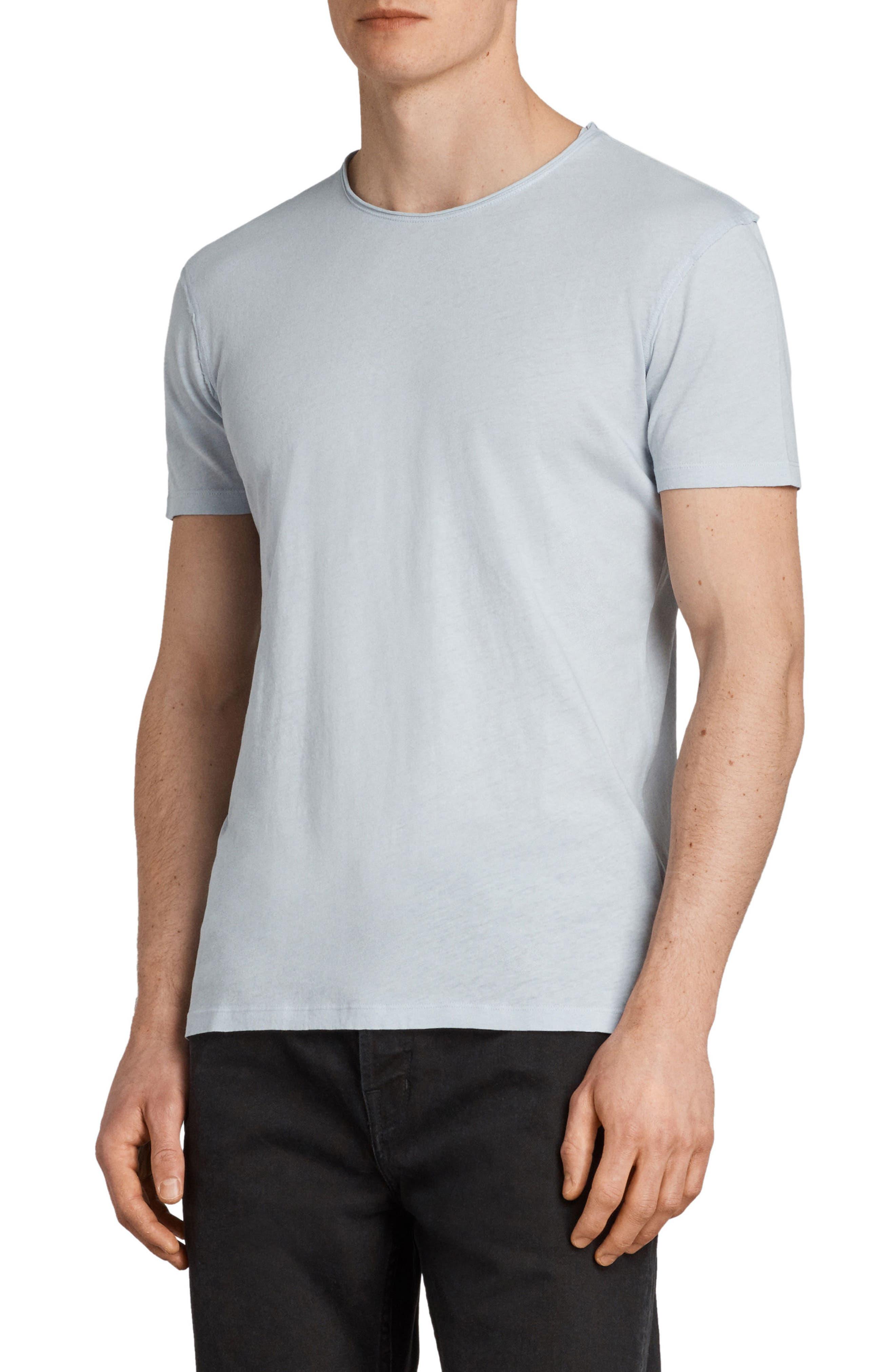 Slim Fit Crewneck T-Shirt,                             Alternate thumbnail 3, color,                             Celest Blue