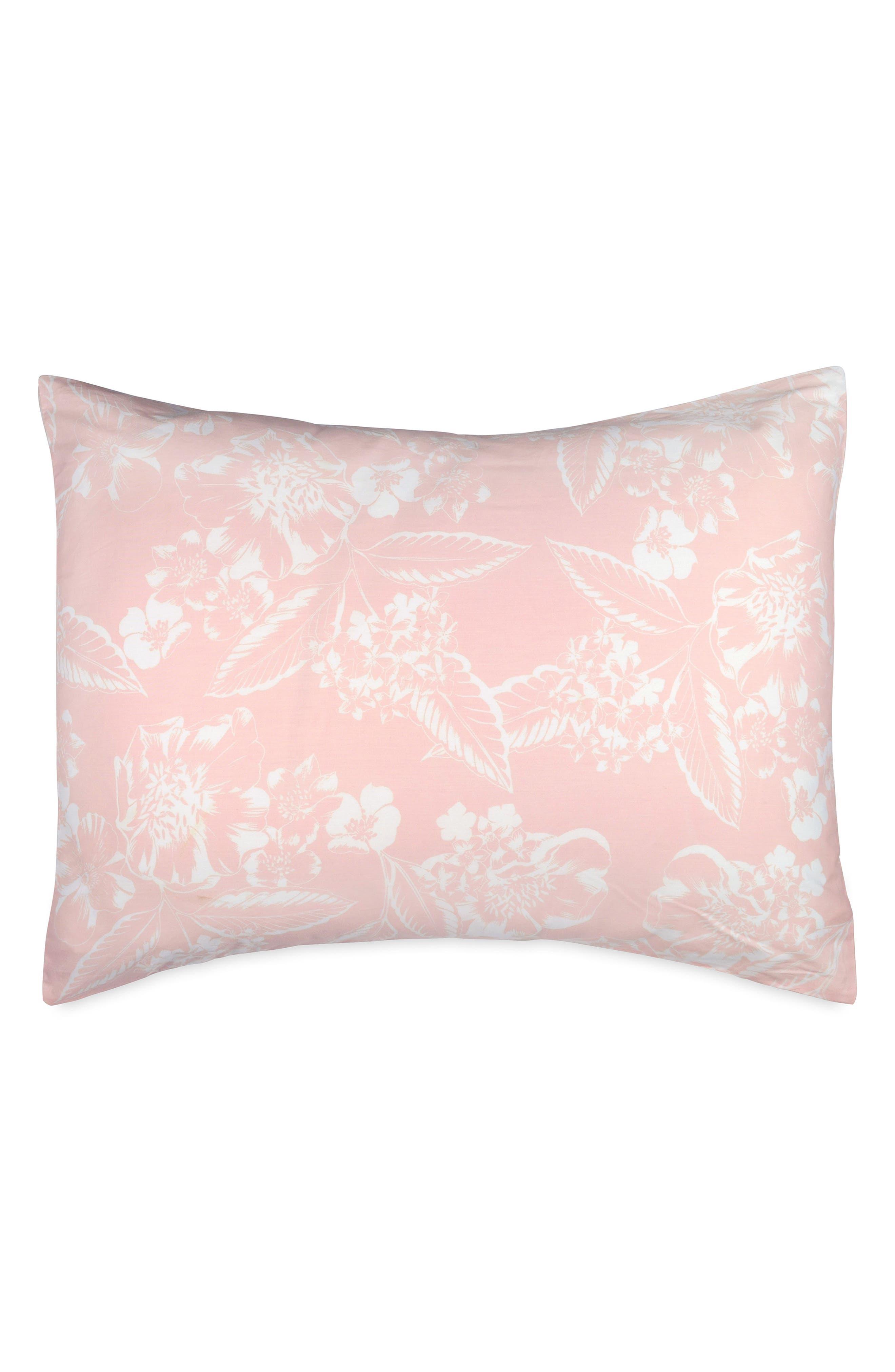 Ombré Hibiscus Duvet Cover & Sham Set,                             Alternate thumbnail 2, color,                             Coral