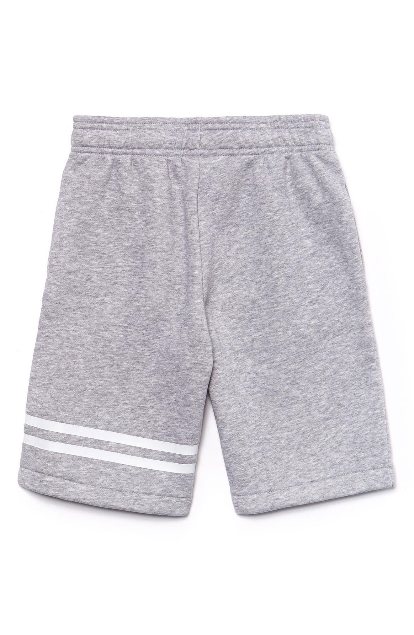 Sport Knit Shorts,                             Alternate thumbnail 2, color,                             Silver Chine/ White