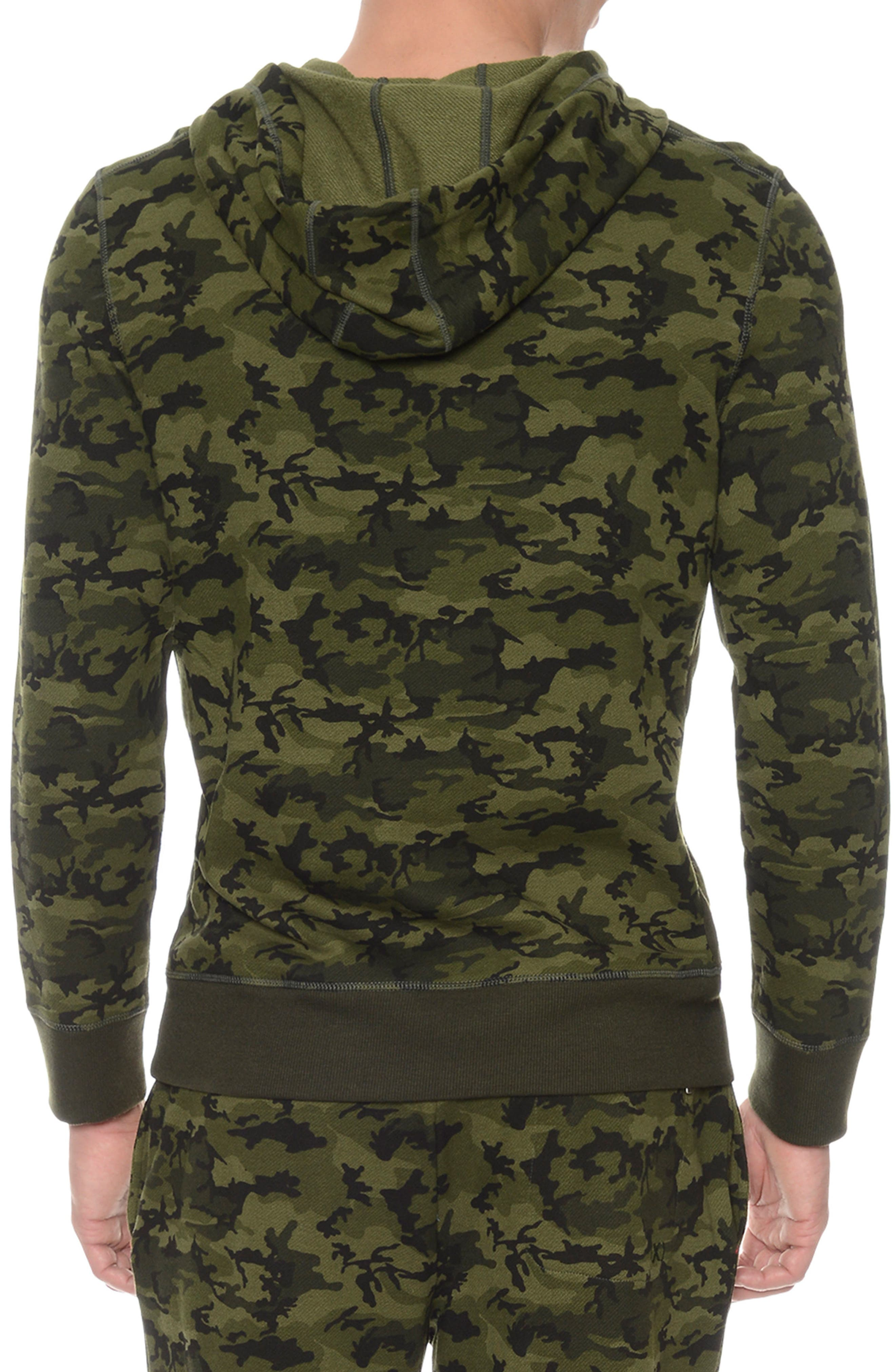 Hooded Pullover,                             Alternate thumbnail 2, color,                             Olive Camo