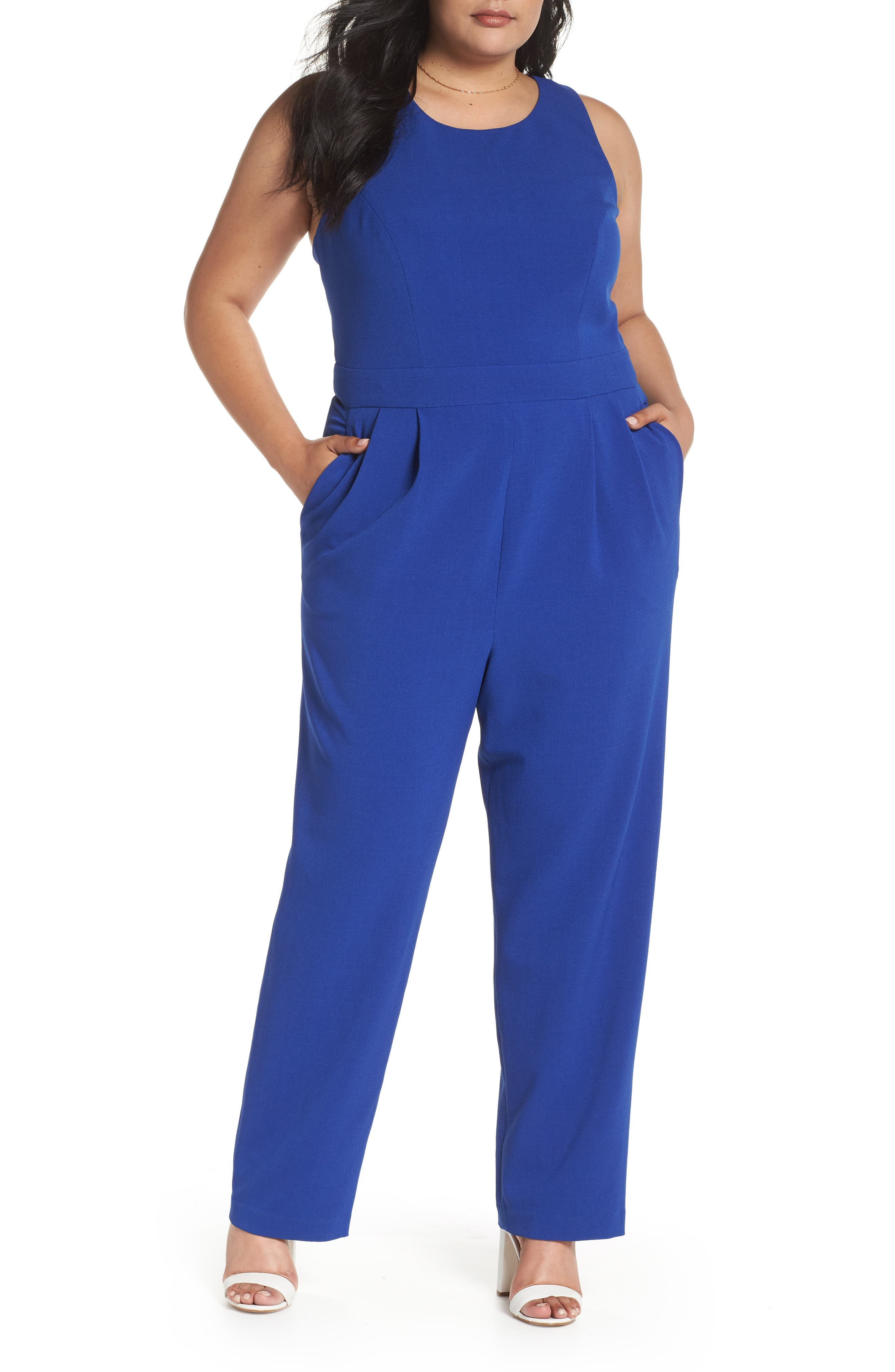 Bow Back Jumpsuit,                             Main thumbnail 1, color,                             Blue Mazarine