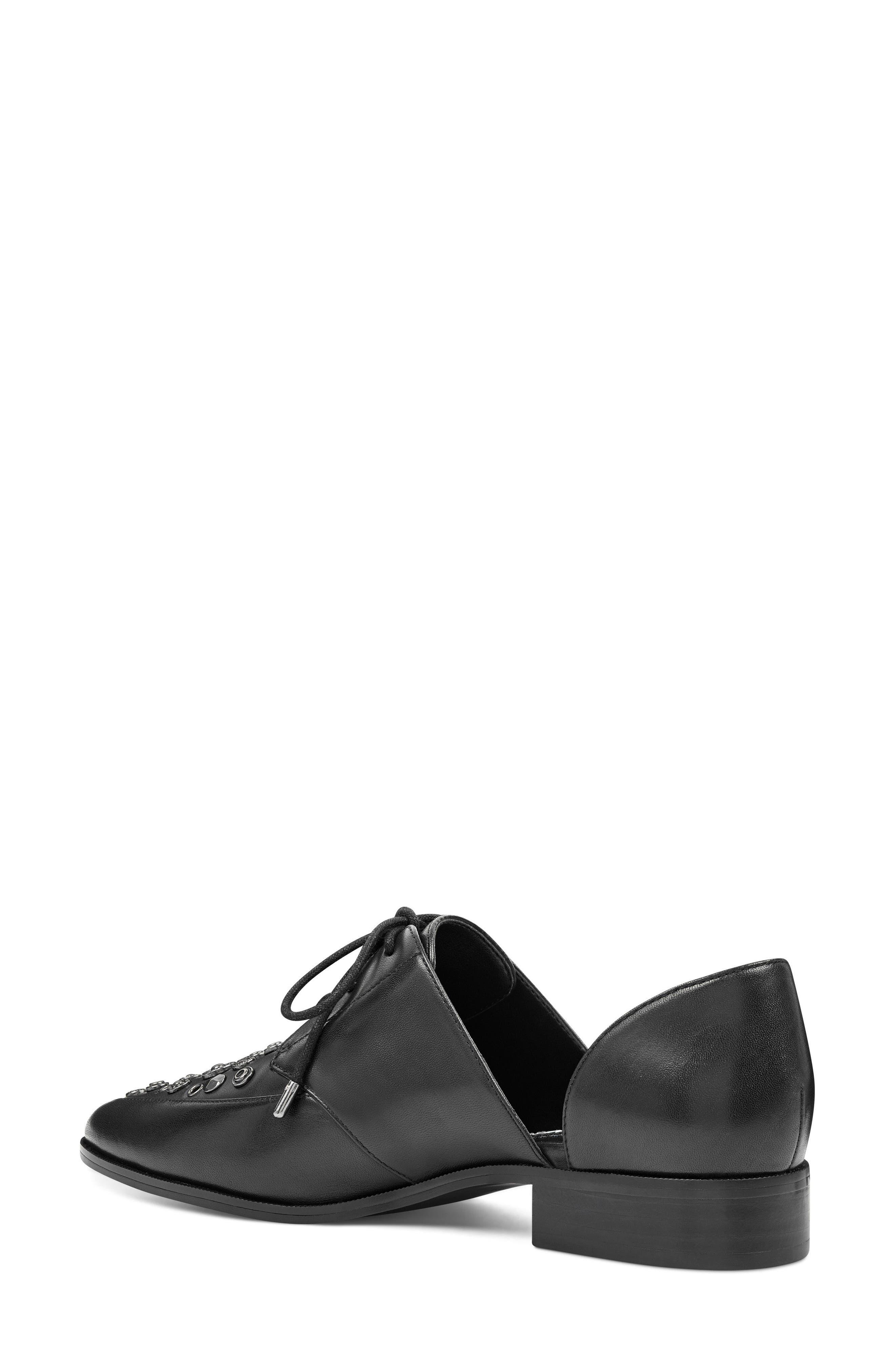 Woahalle Flat,                             Alternate thumbnail 2, color,                             Black Leather