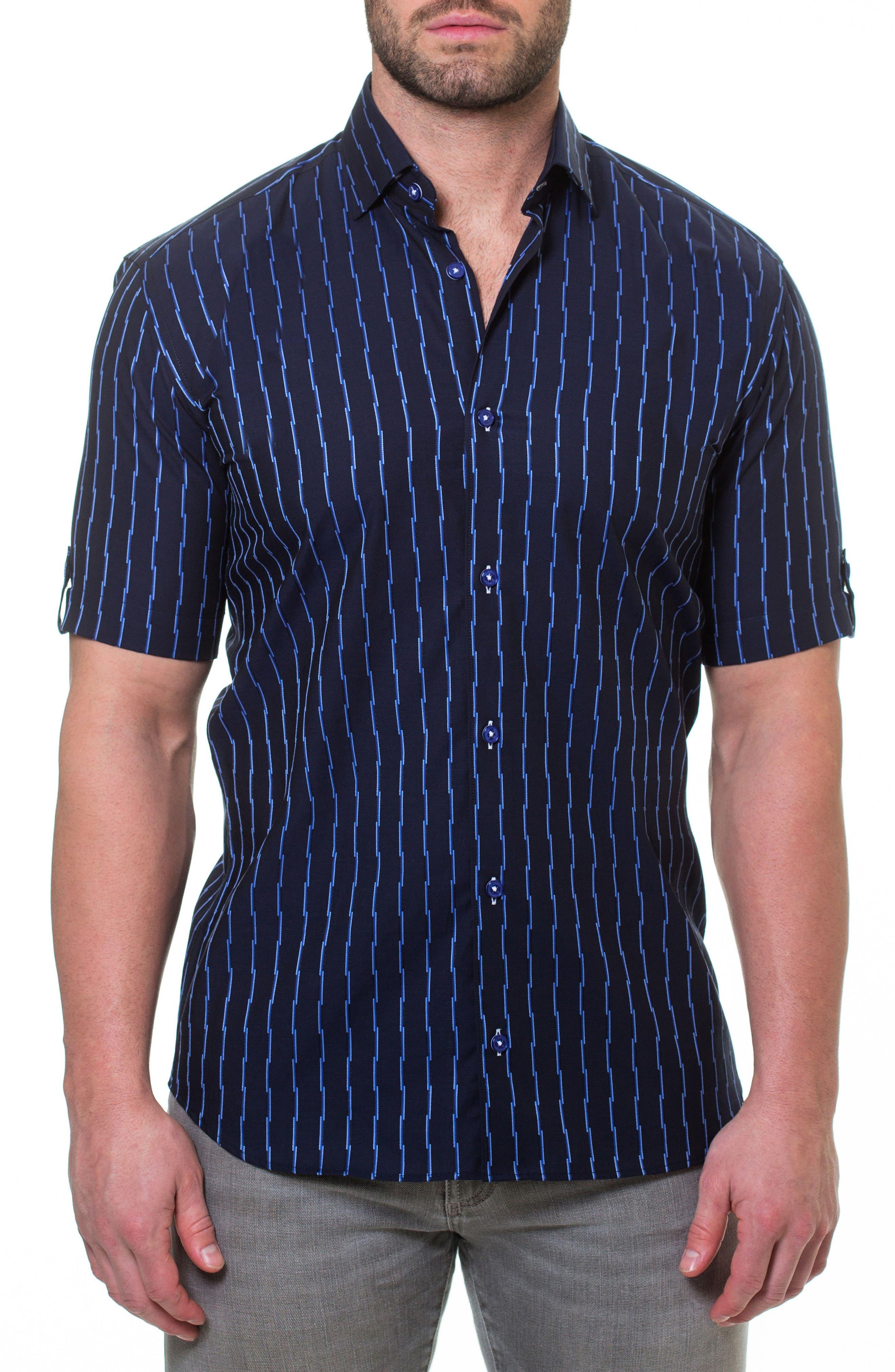 Fresh Link Slim Fit Sport Shirt,                         Main,                         color, Blue