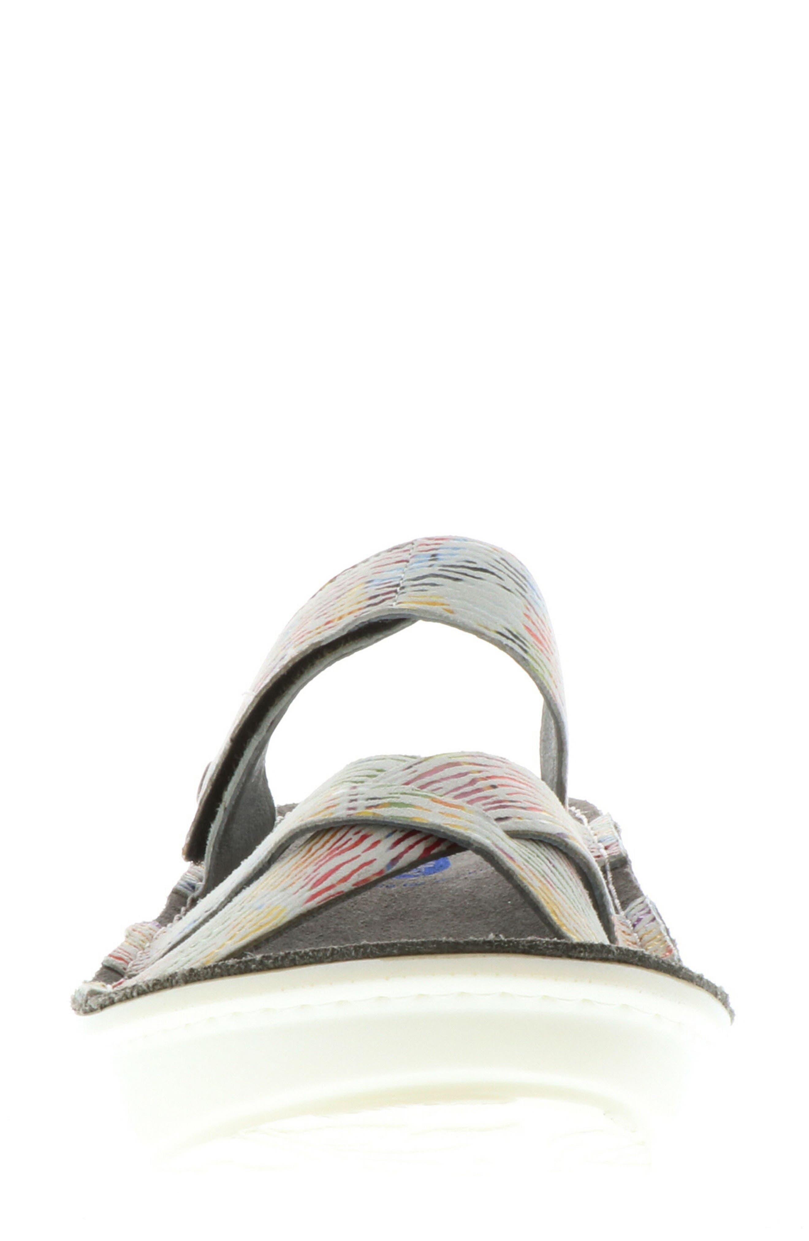 Bioko Sandal,                             Alternate thumbnail 4, color,                             White Multi