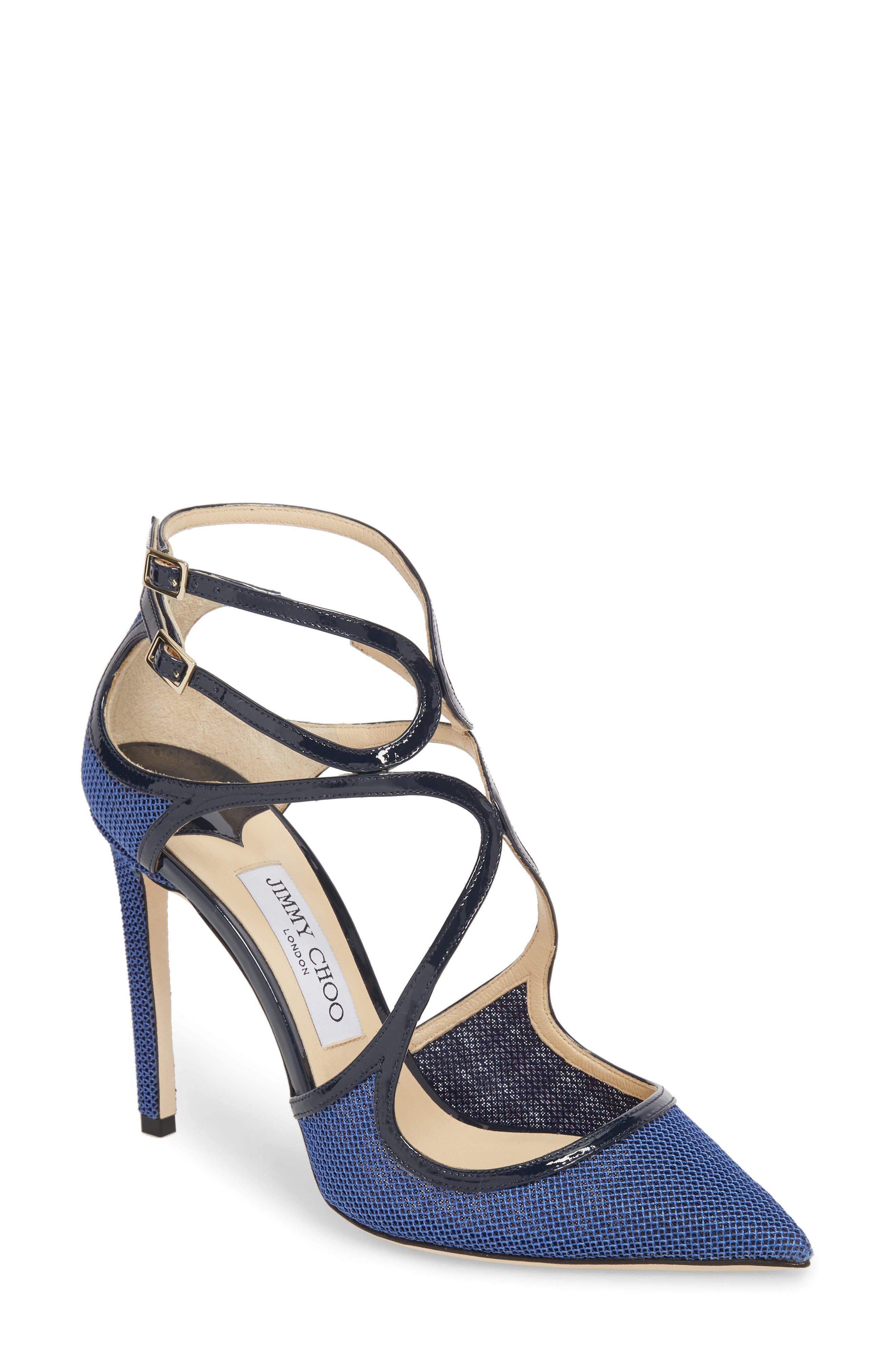 Lancer Strappy Pump,                         Main,                         color, Navy Mix