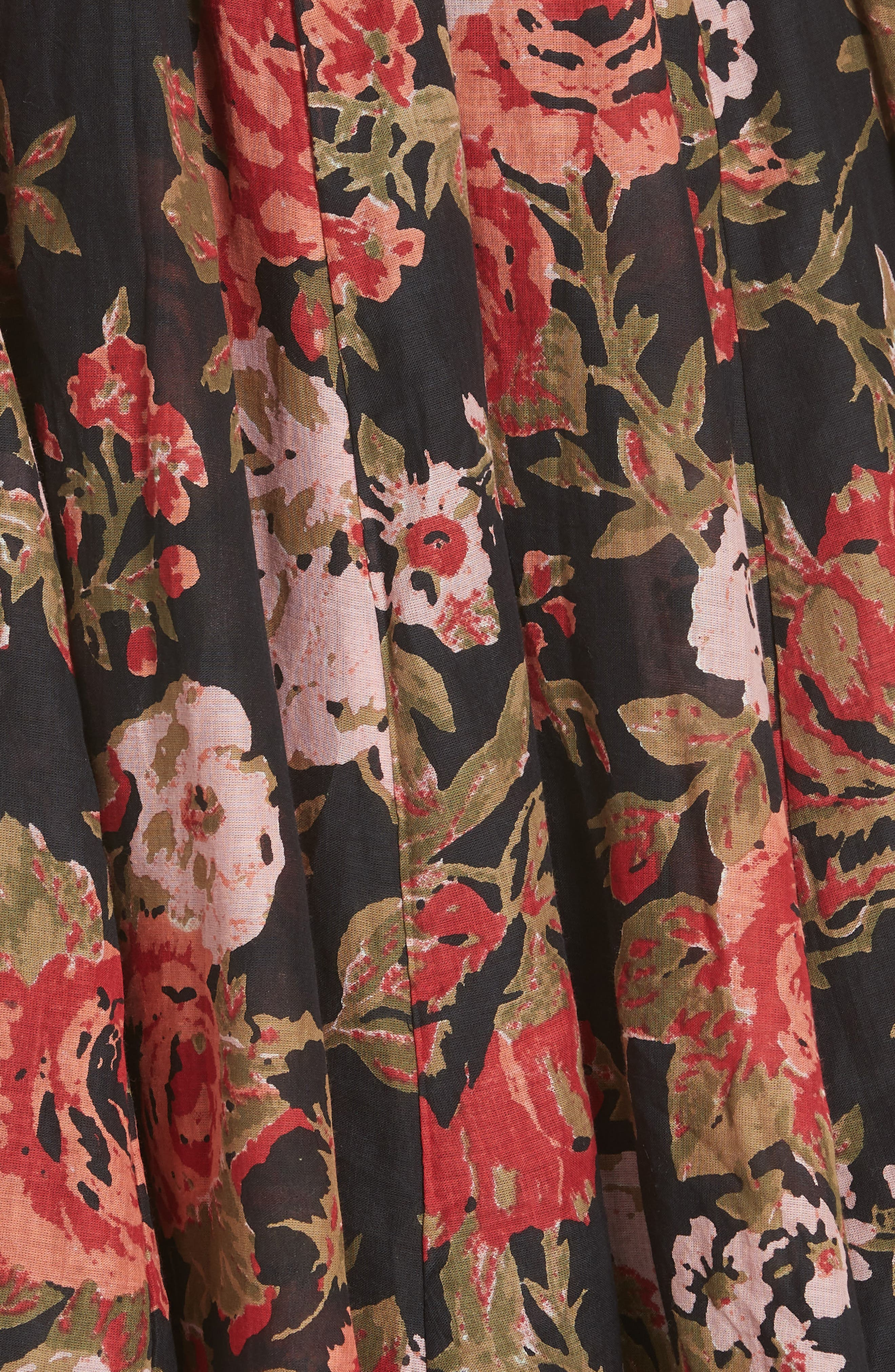 Oh Baby Floral Minidress,                             Alternate thumbnail 2, color,                             Black