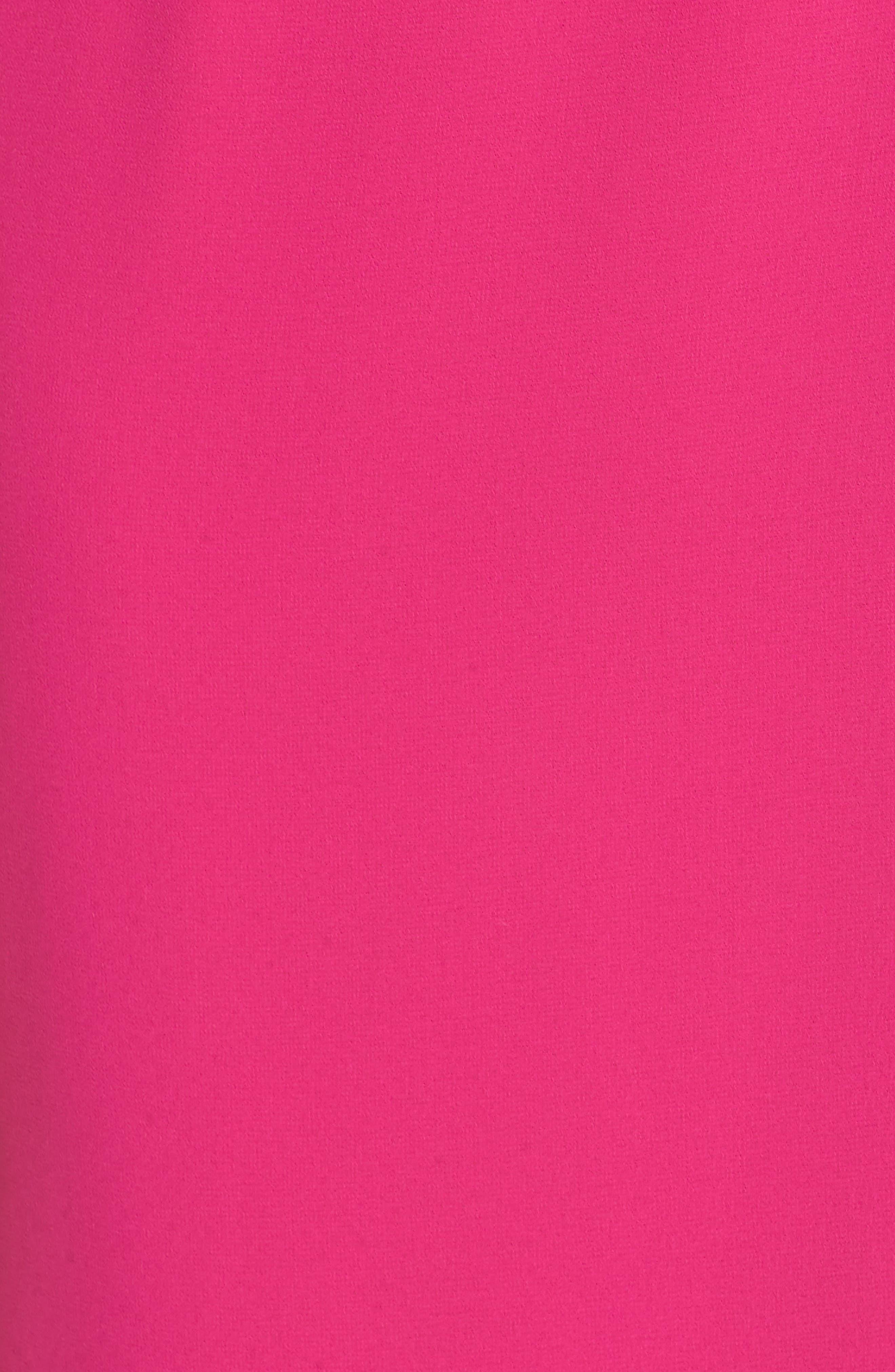 Asymmetrical Ruffle Column Gown,                             Alternate thumbnail 6, color,                             Fuchsia