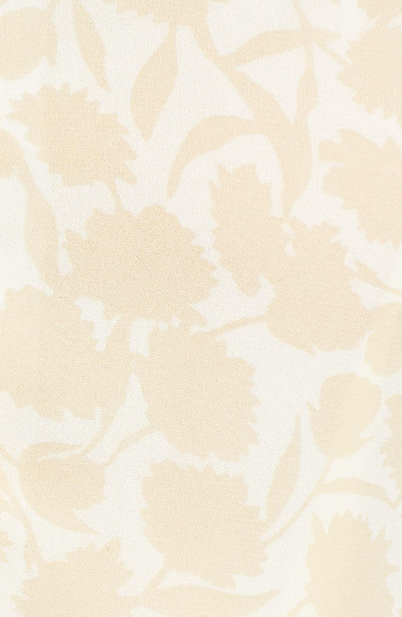 Esther Shadow Branch Chiffon Dress,                             Alternate thumbnail 7, color,                             Cream Combo