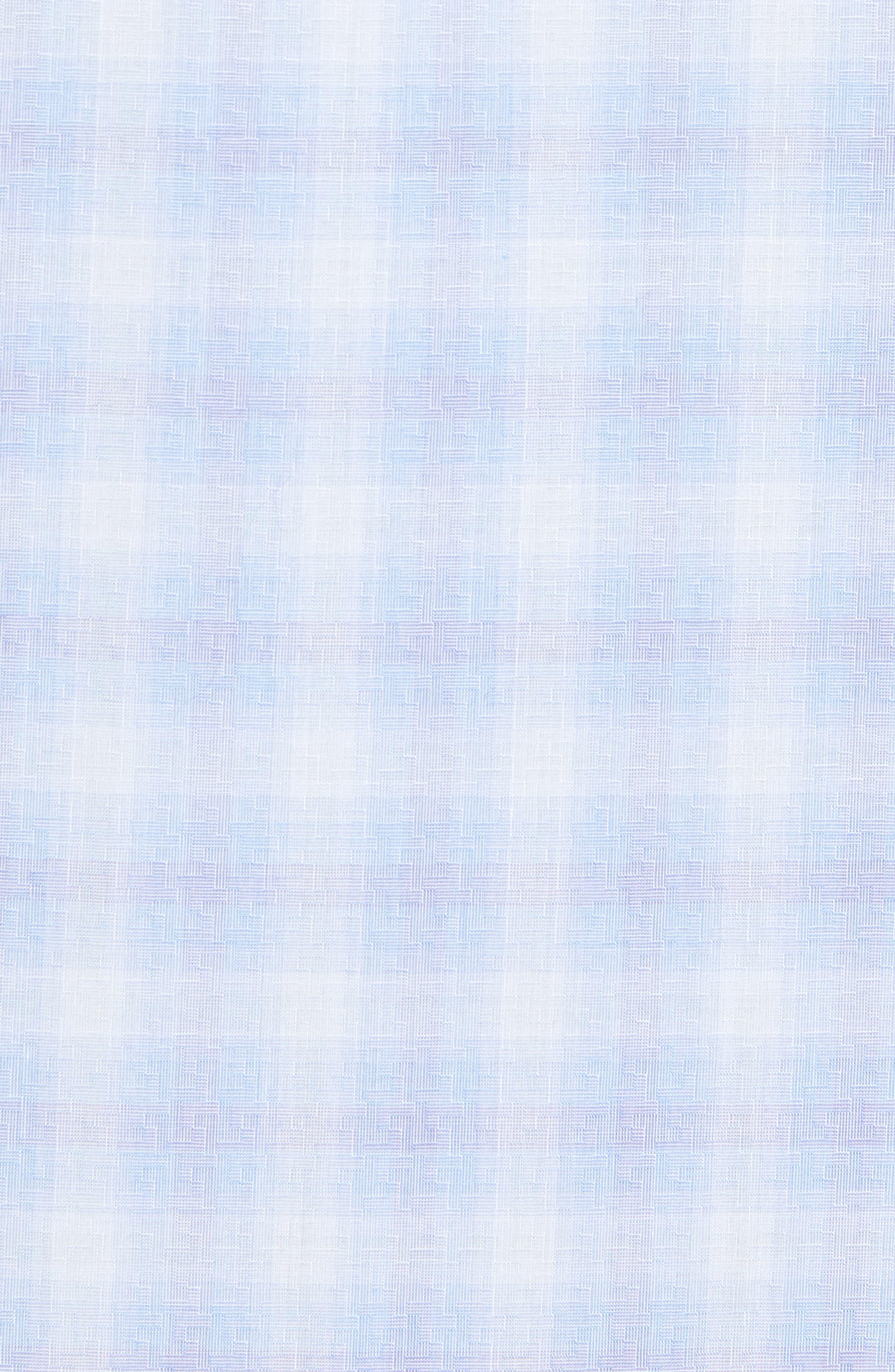 Salamone Plaid Sport Shirt,                             Alternate thumbnail 5, color,                             Sky
