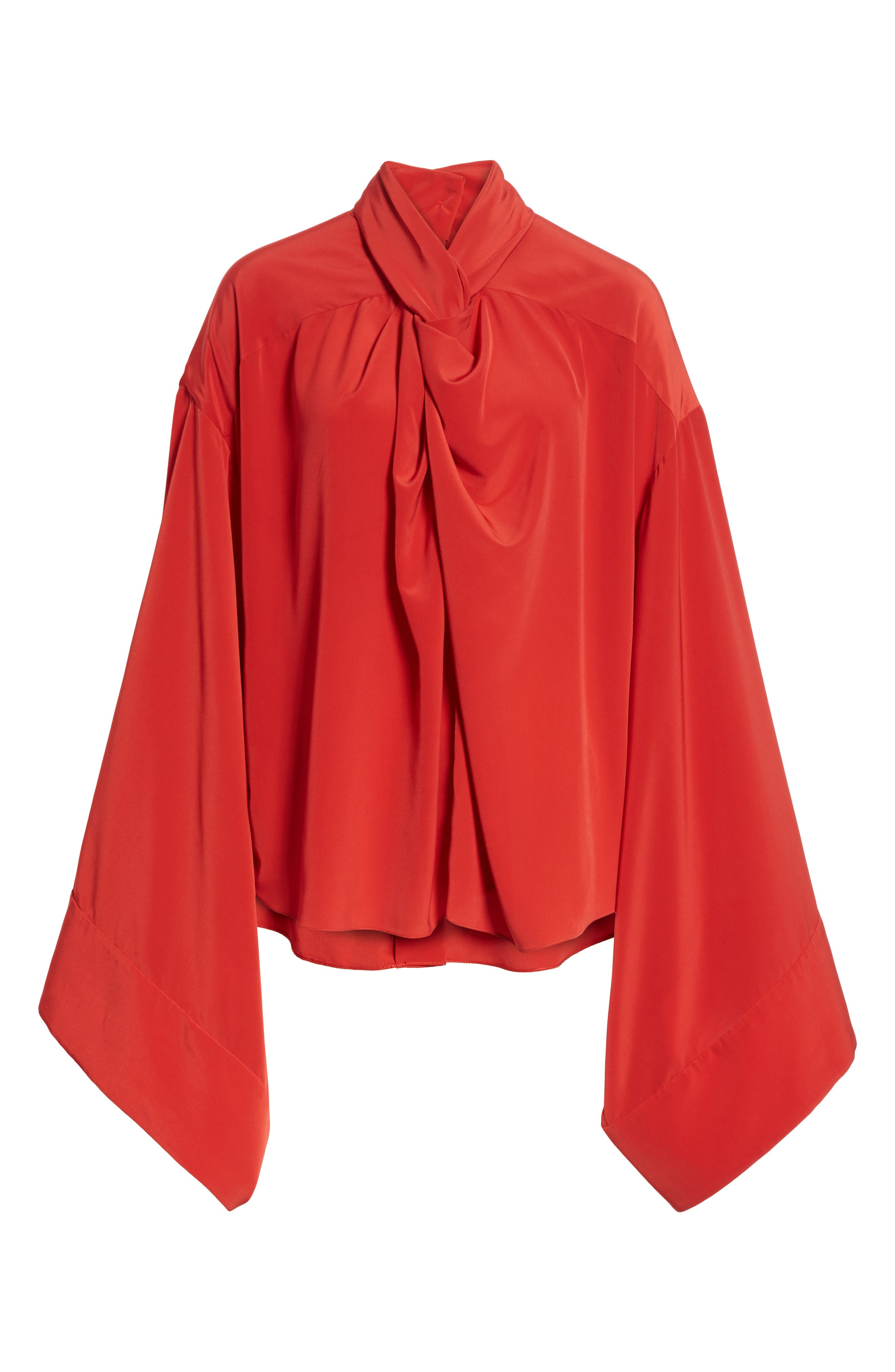 Kimono Sleeve Blouse,                             Alternate thumbnail 7, color,                             Red