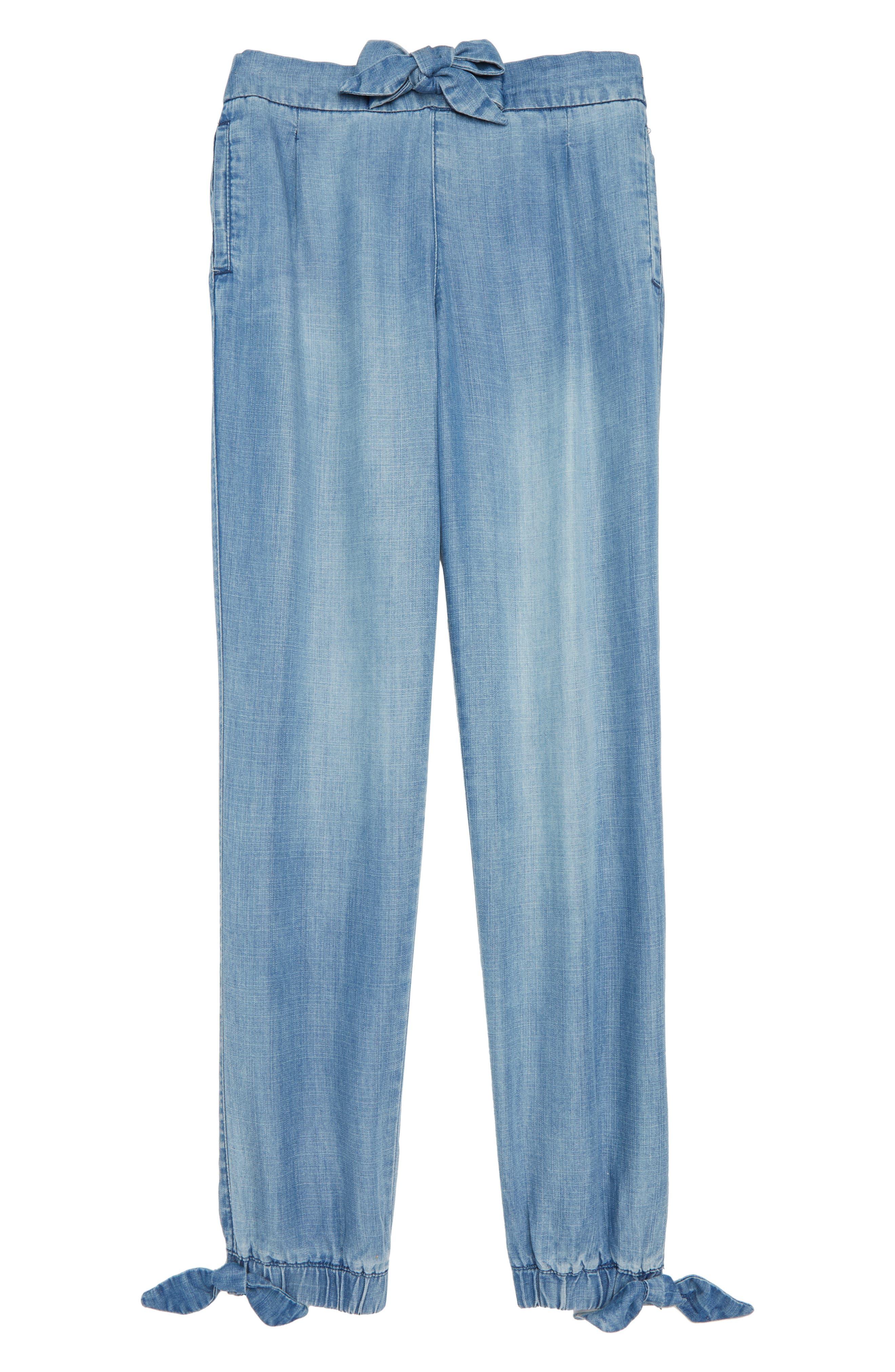 Tractr Chambray Jogger Pants (Big Girls)