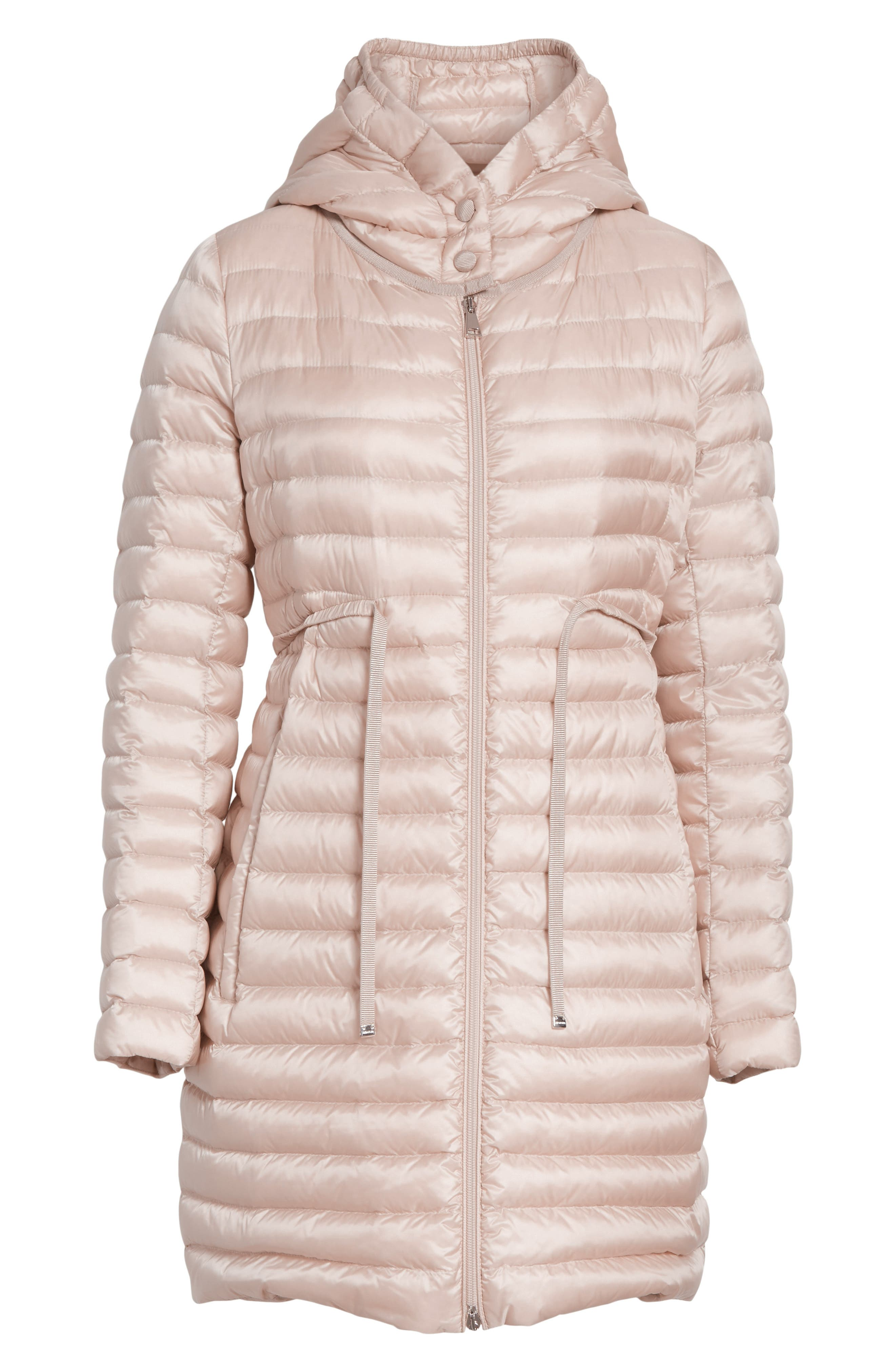 Barbel Water Resistant Long Hooded Down Jacket,                             Alternate thumbnail 6, color,                             Blush