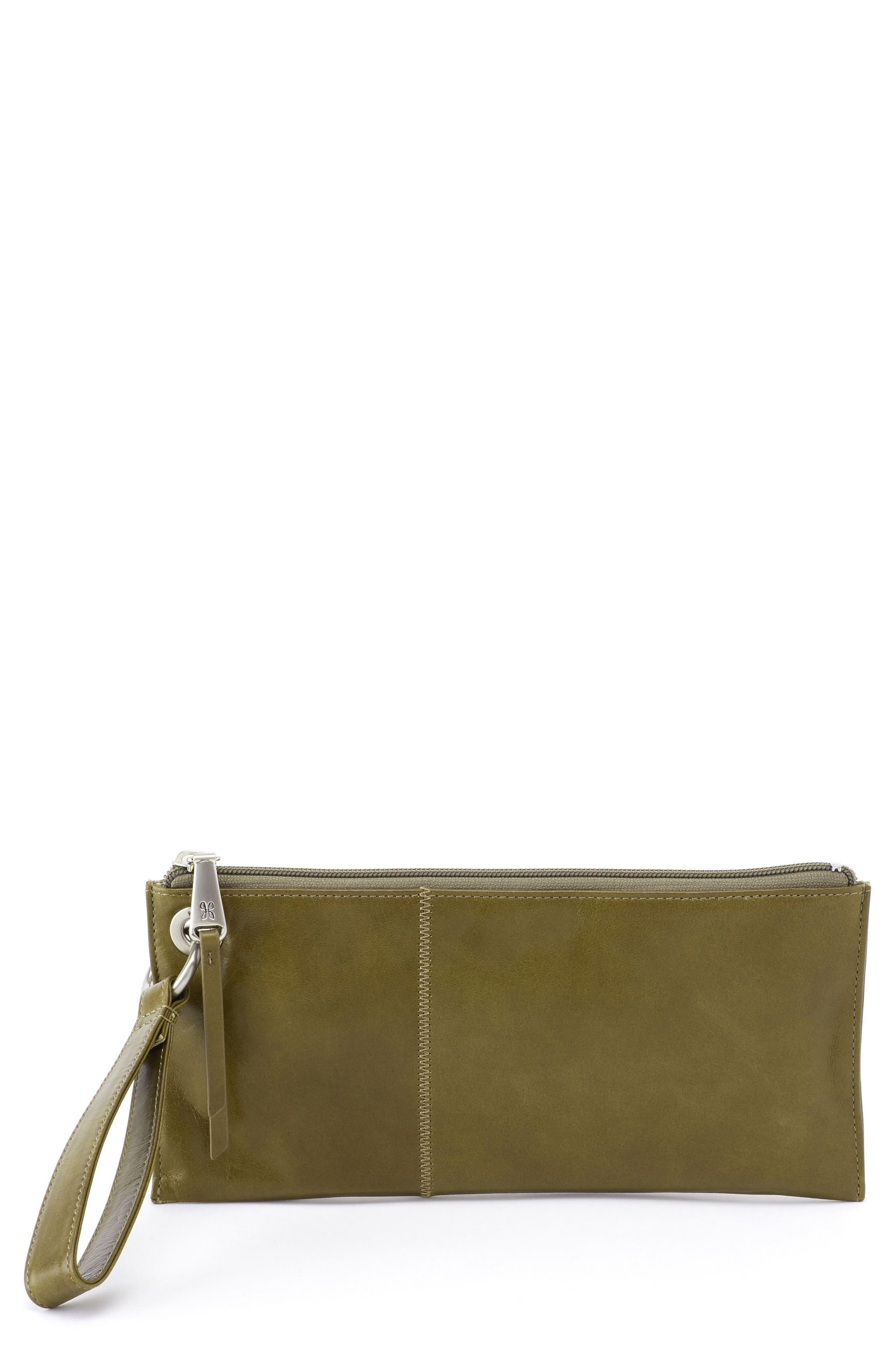 'Vida' Leather Clutch,                             Main thumbnail 1, color,                             Willow