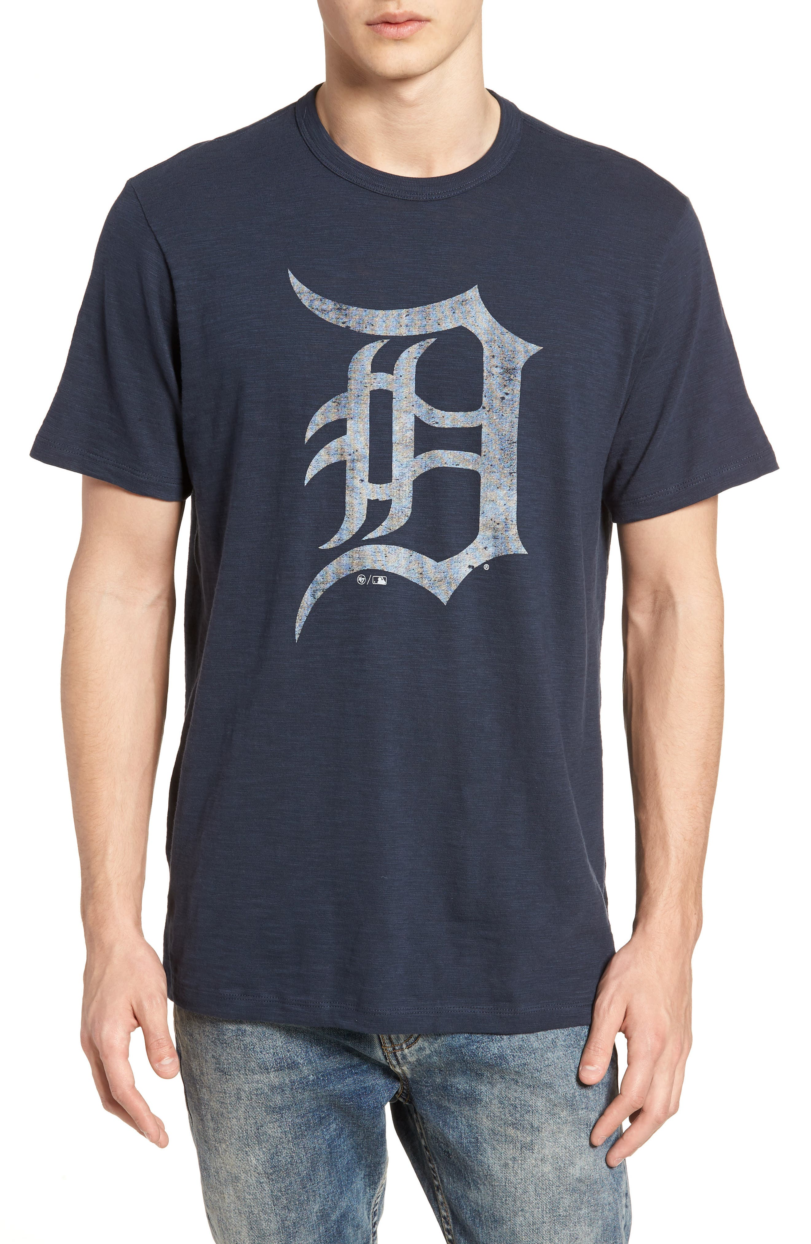 MLB Grit Scrum Detroit Tigers T-Shirt,                             Main thumbnail 1, color,                             Midnight