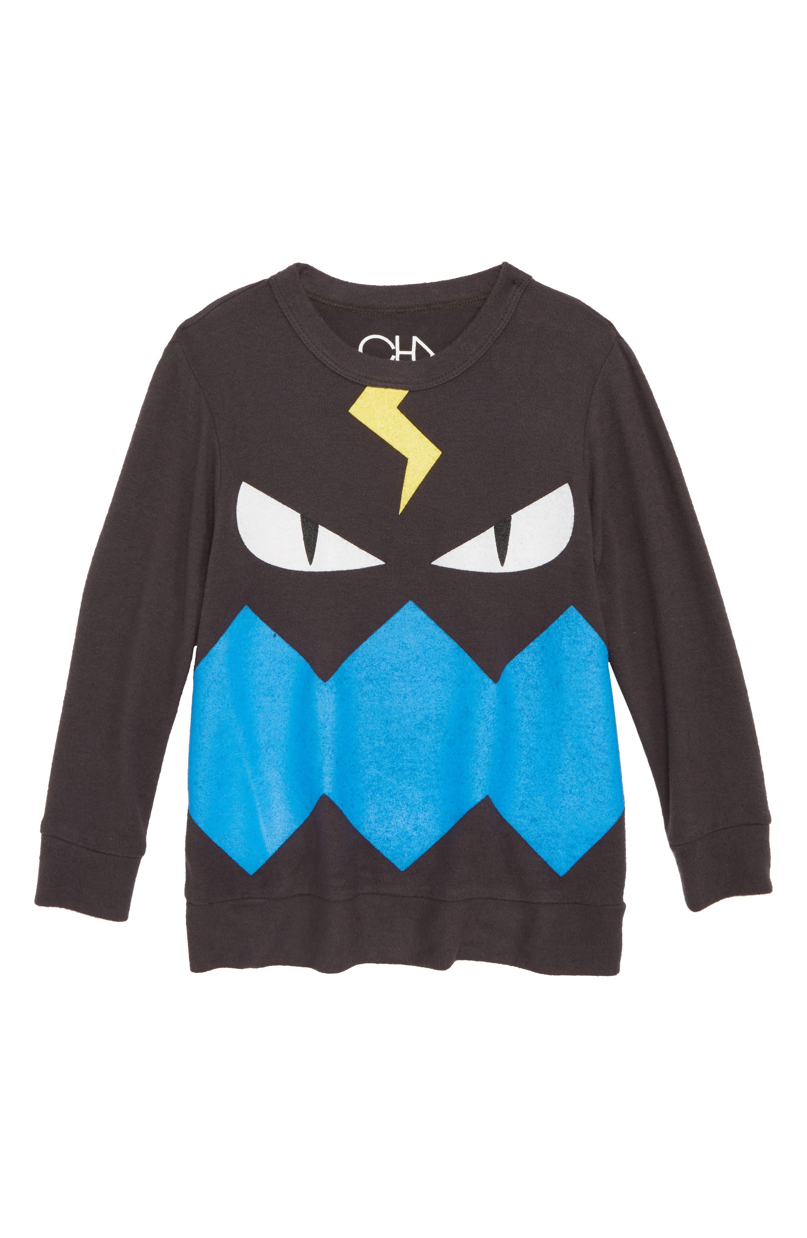 Monster Sweatshirt,                             Main thumbnail 1, color,                             Asphalt