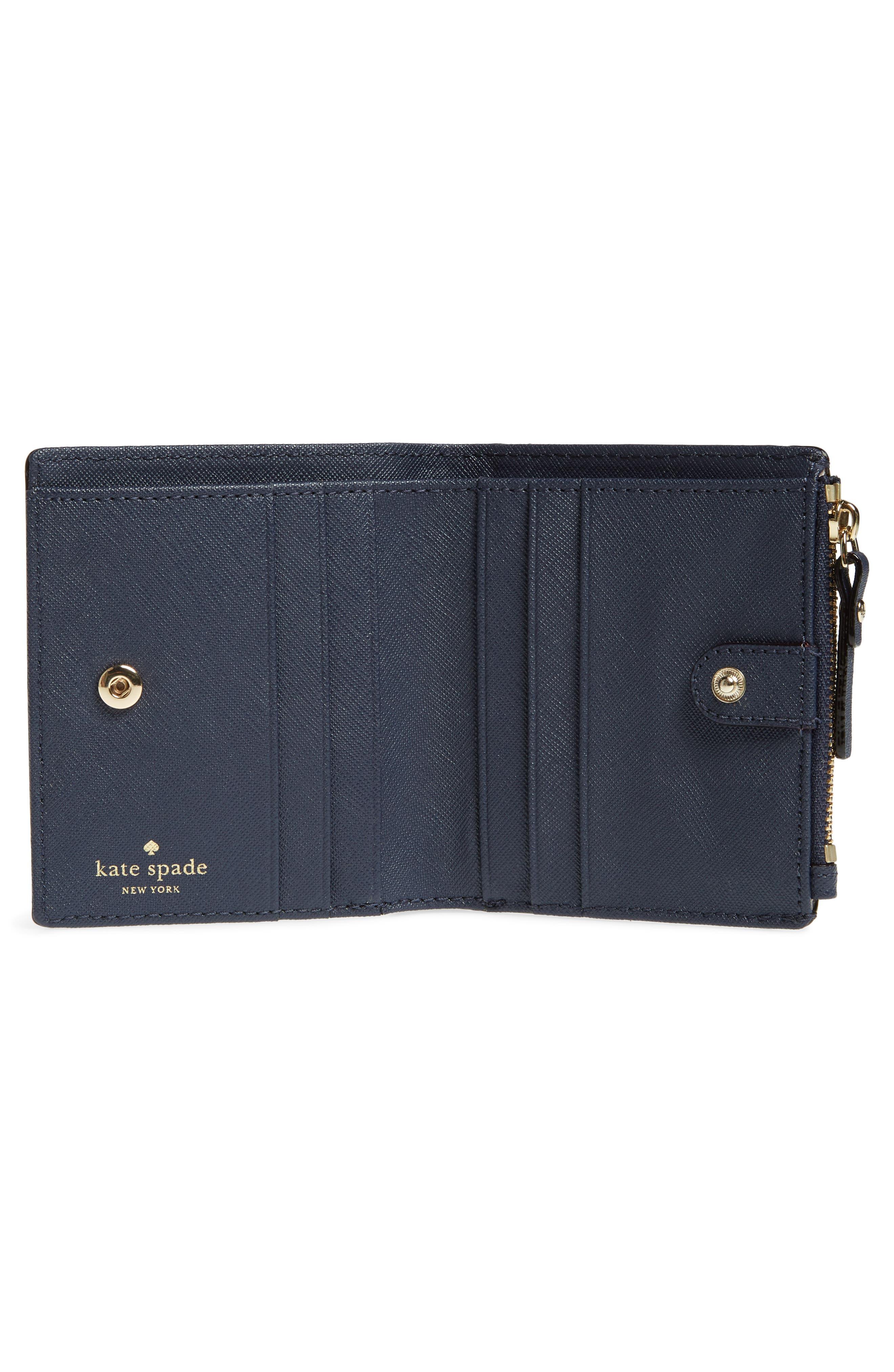 shore thing - stripe adalyn leather wallet,                             Alternate thumbnail 2, color,                             Multi
