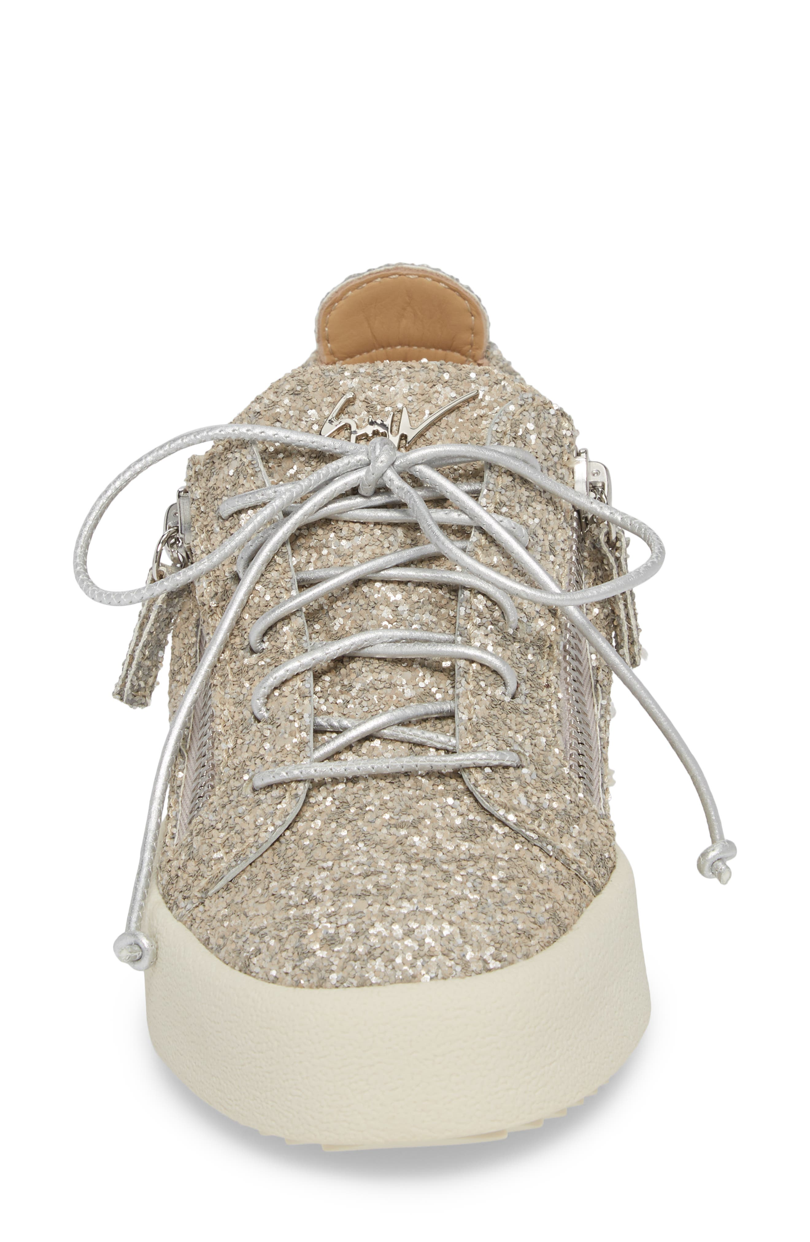 May London Low Top Sneaker,                             Alternate thumbnail 4, color,                             Champagne