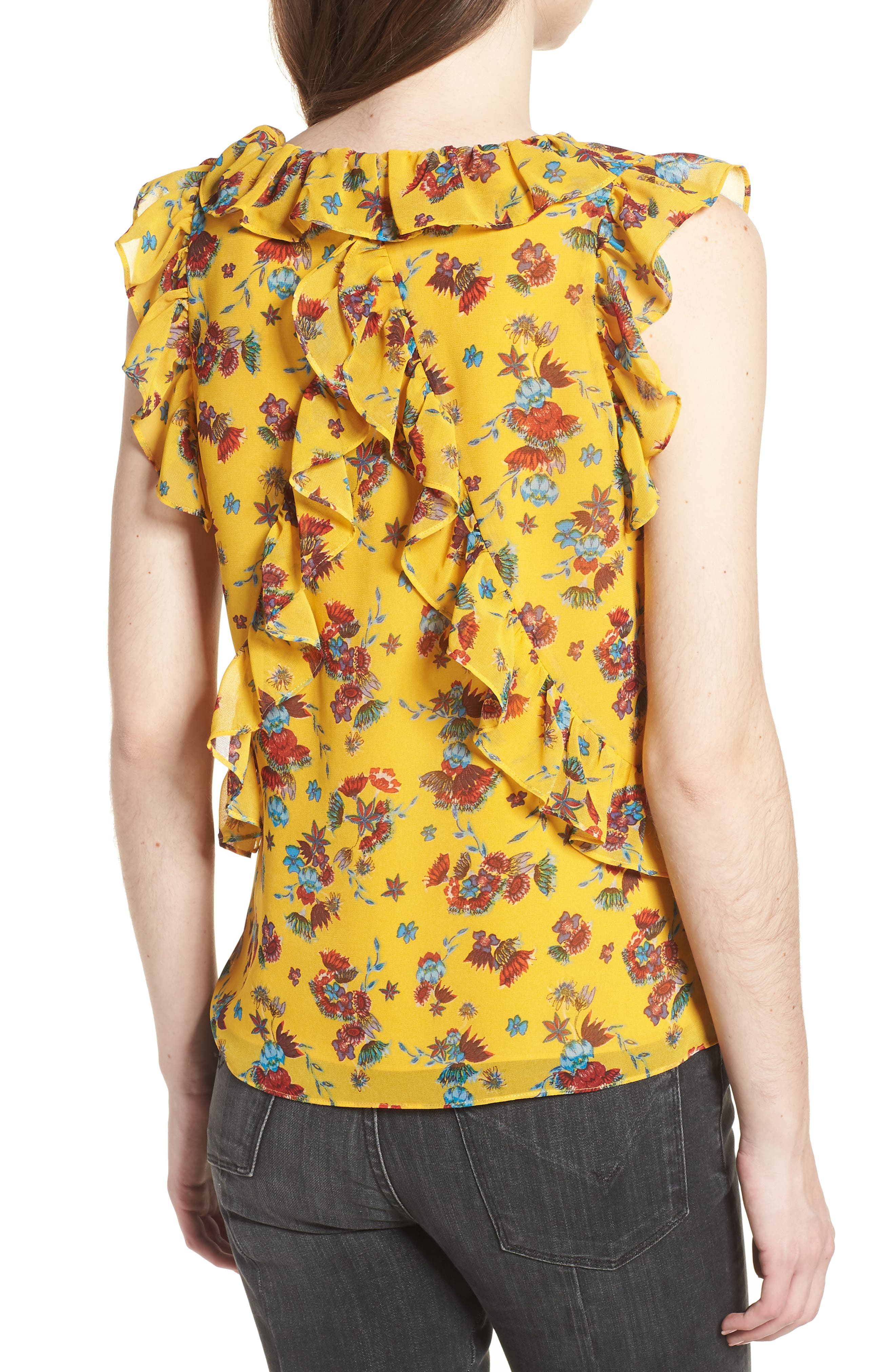 Daisy Top,                             Alternate thumbnail 2, color,                             Yellow Multi