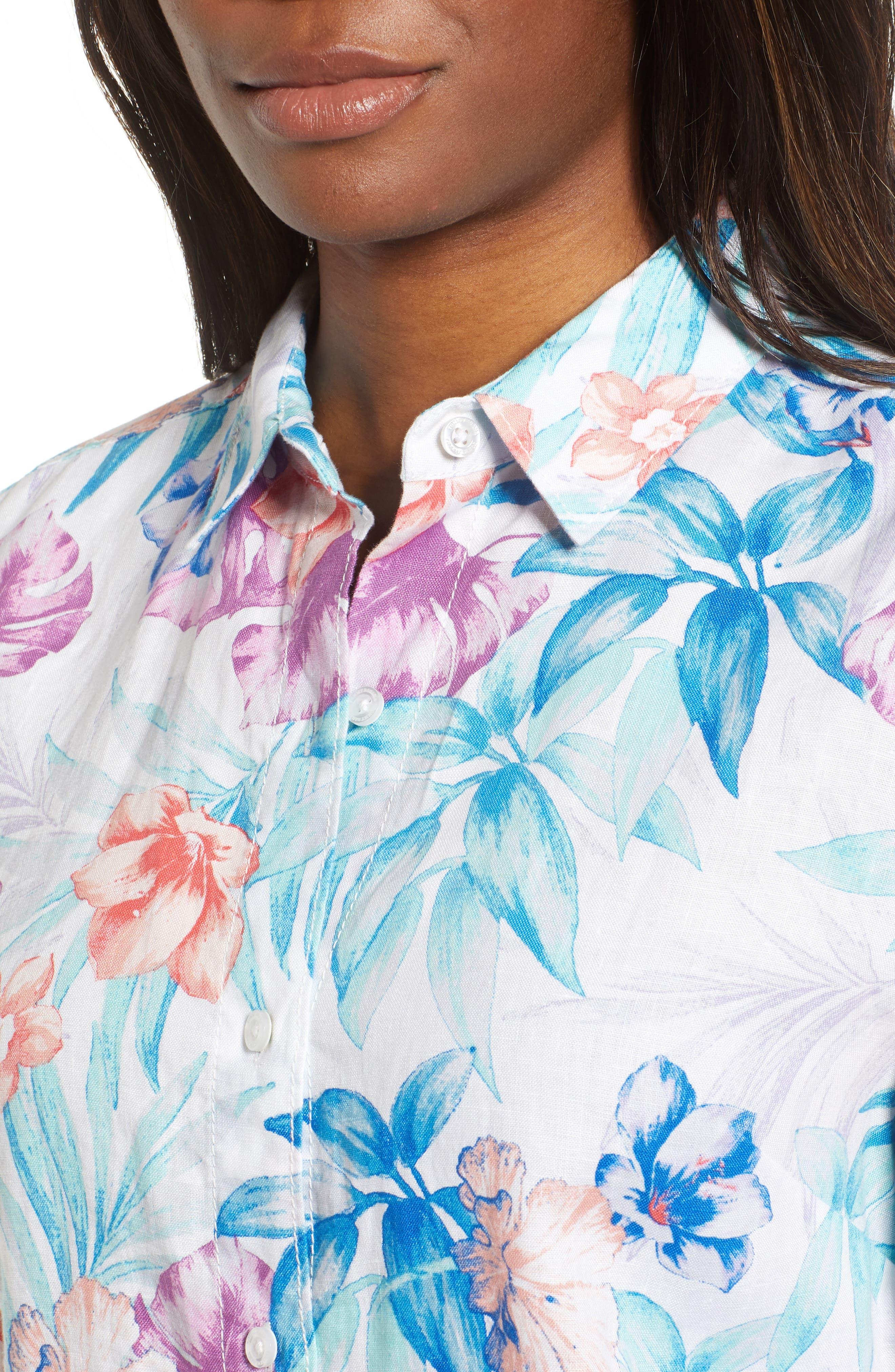 Valentina Villa Shirt,                             Alternate thumbnail 4, color,                             White