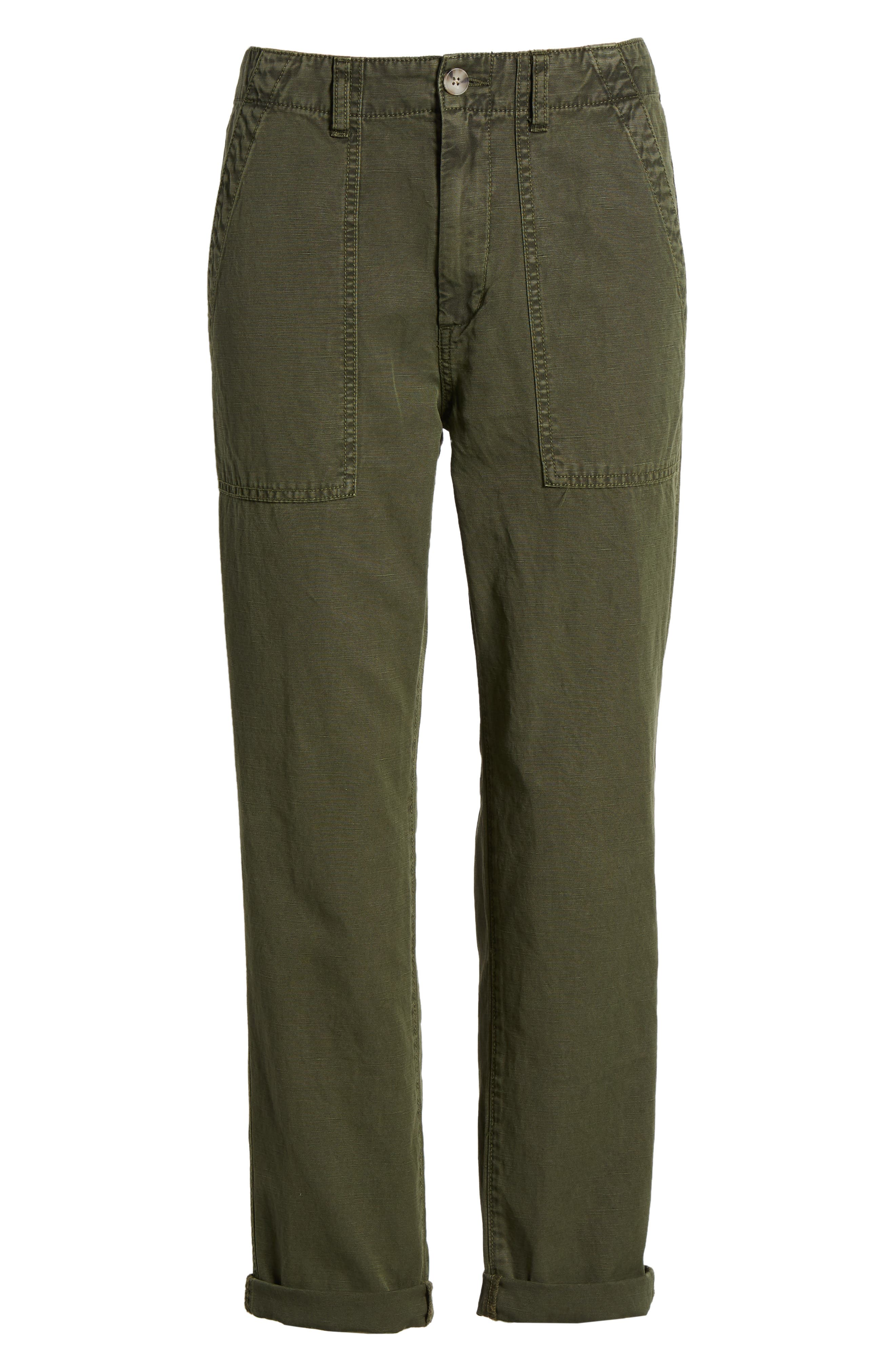 The Wes Utilitarian Relaxed Straight Pants,                             Alternate thumbnail 7, color,                             Sulfur Desert Pine