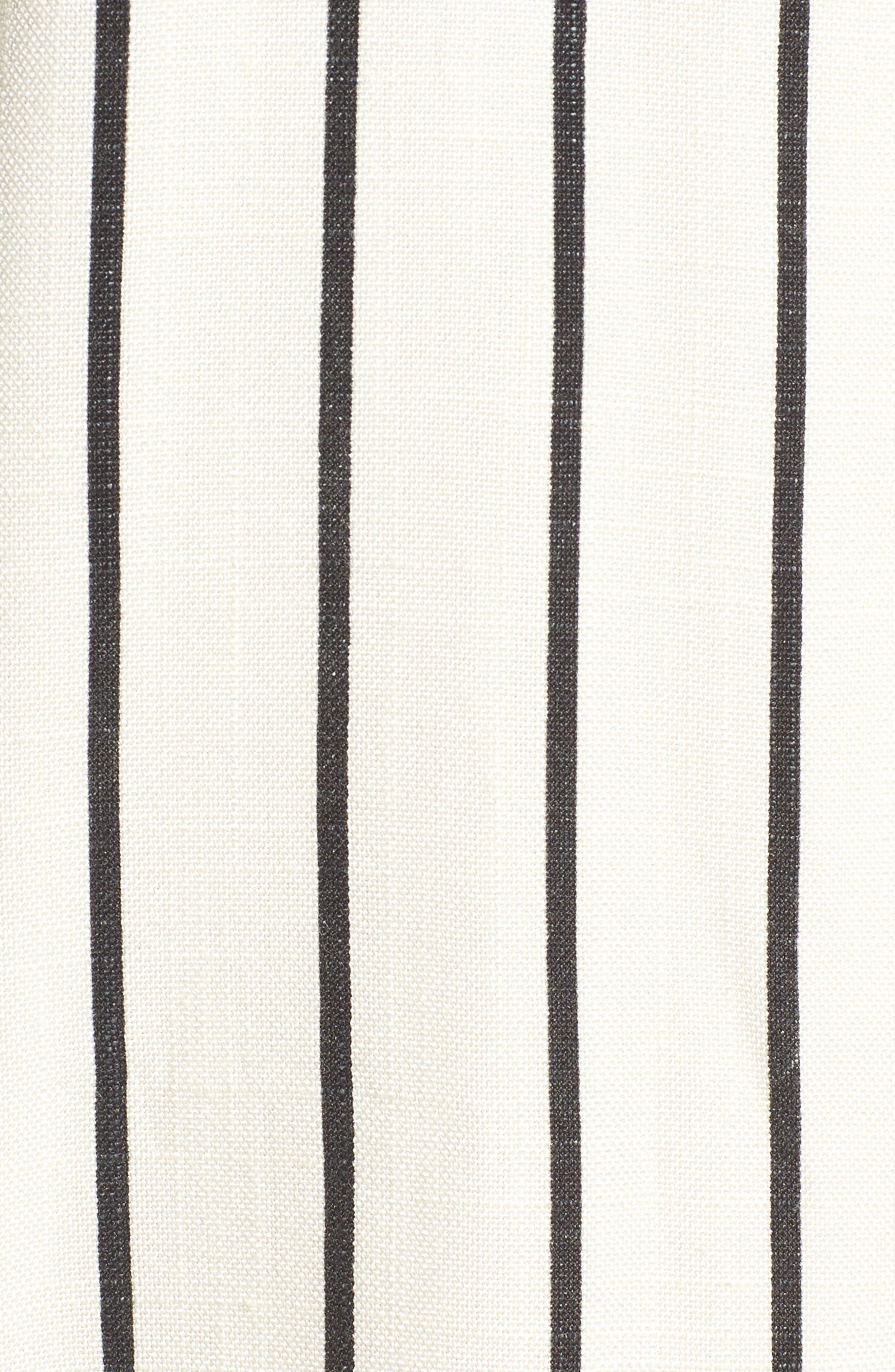 Fanning Stripe Blazer,                             Alternate thumbnail 6, color,                             Natural And Black