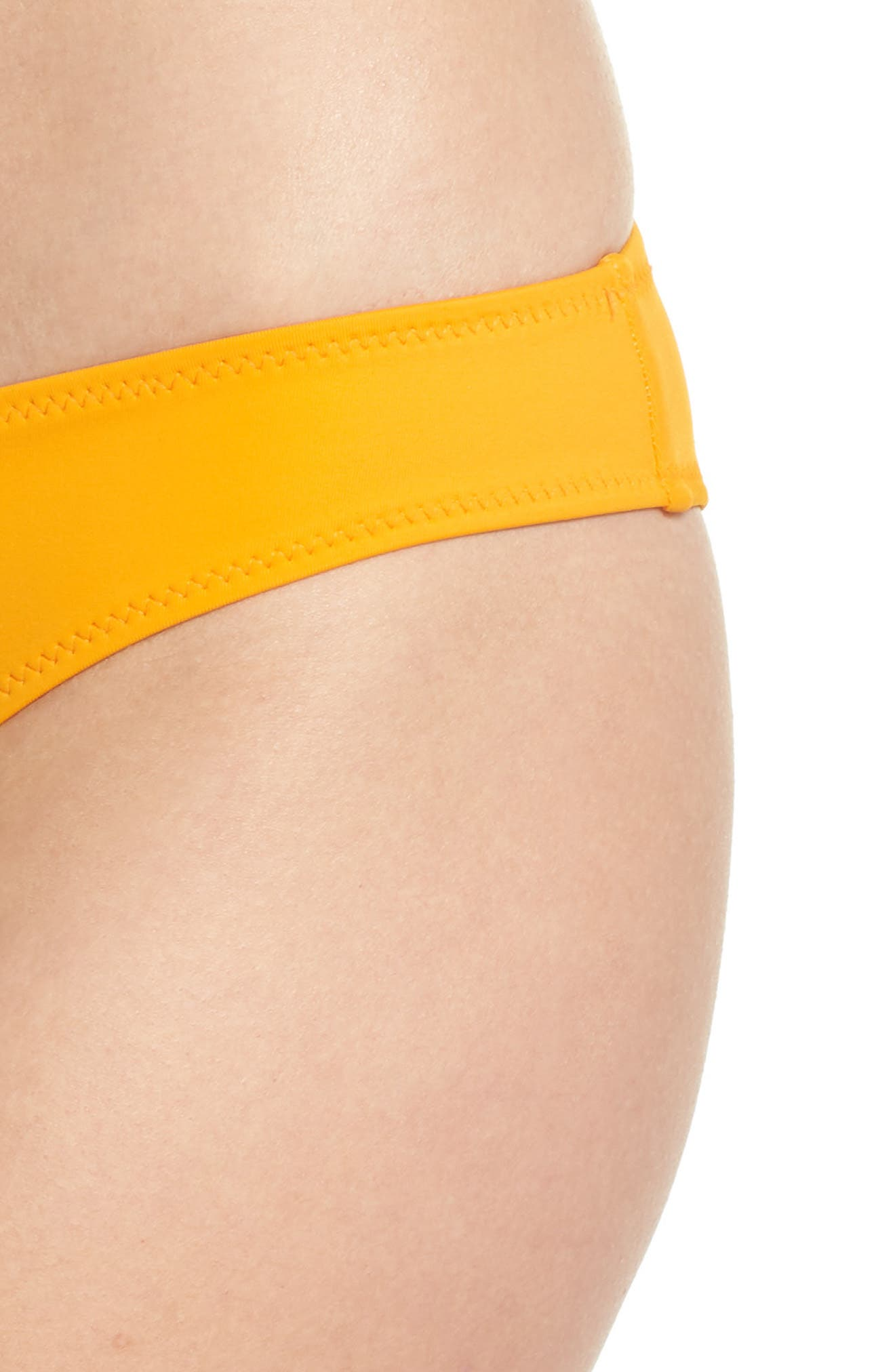 Elle Bikini Bottoms,                             Alternate thumbnail 6, color,                             Orange