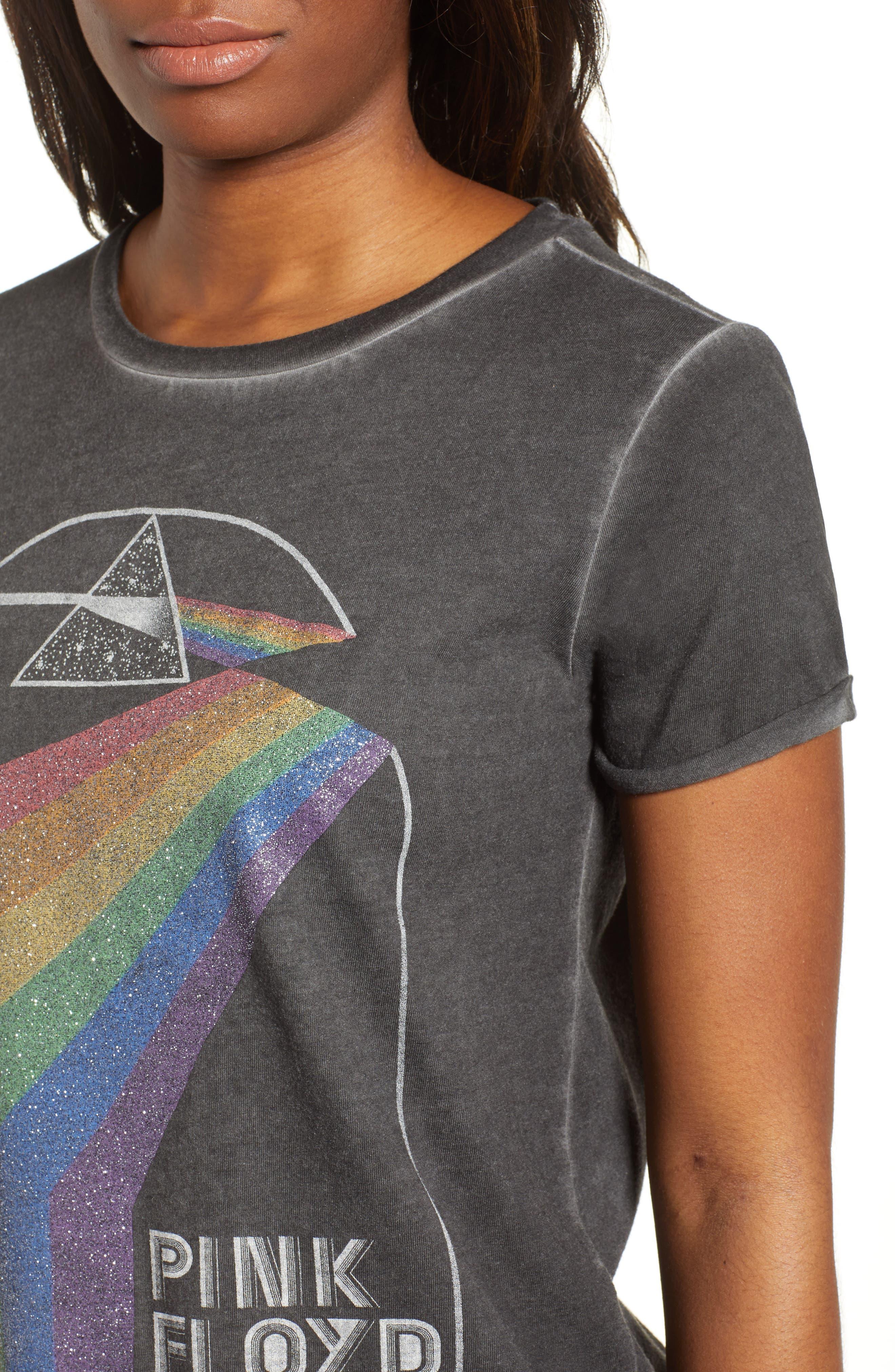 Pink Floyd Metallic Tee,                             Alternate thumbnail 4, color,                             Lucky Black