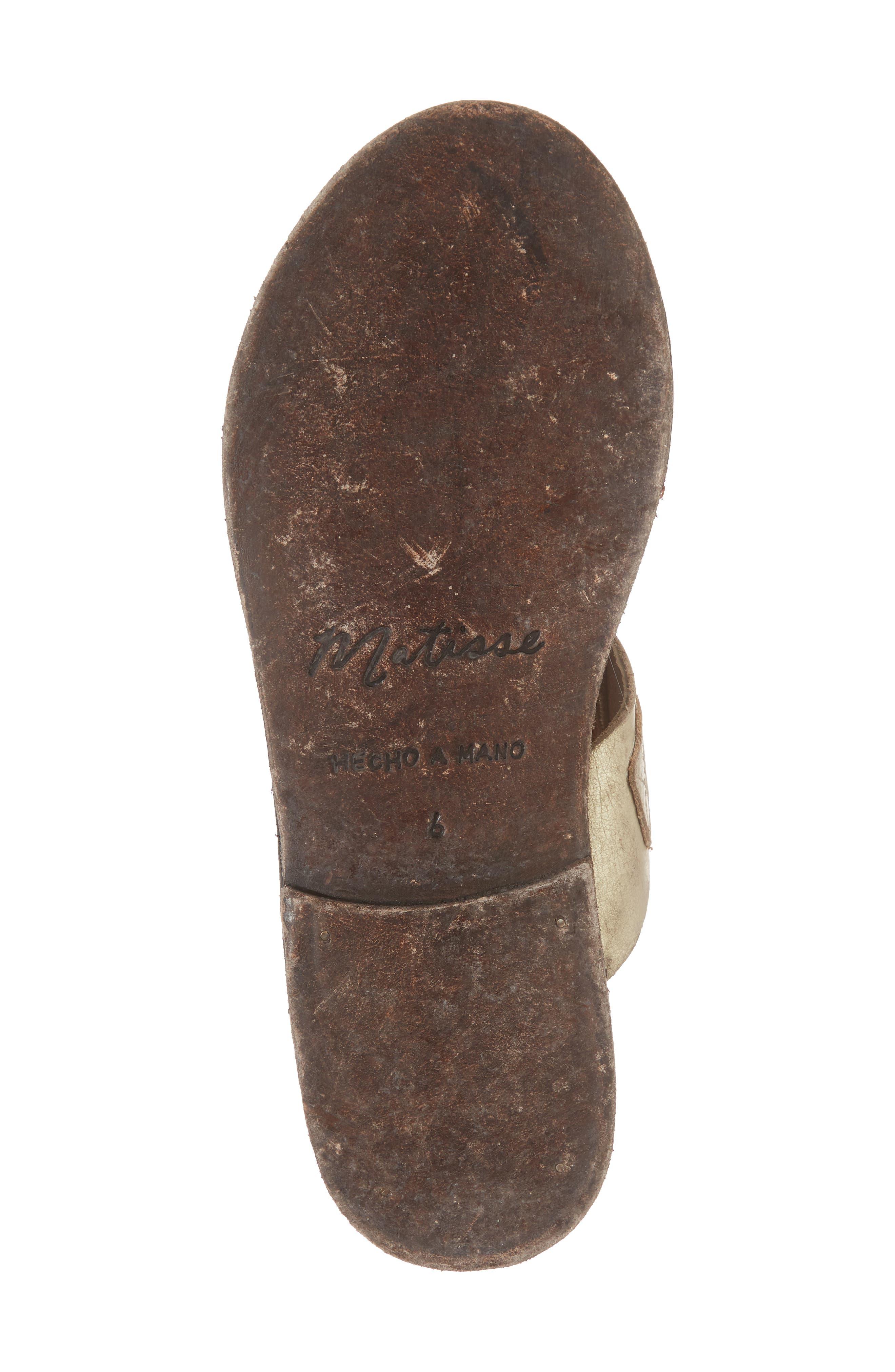 Abbie Slide Sandal,                             Alternate thumbnail 6, color,                             Gold Leather