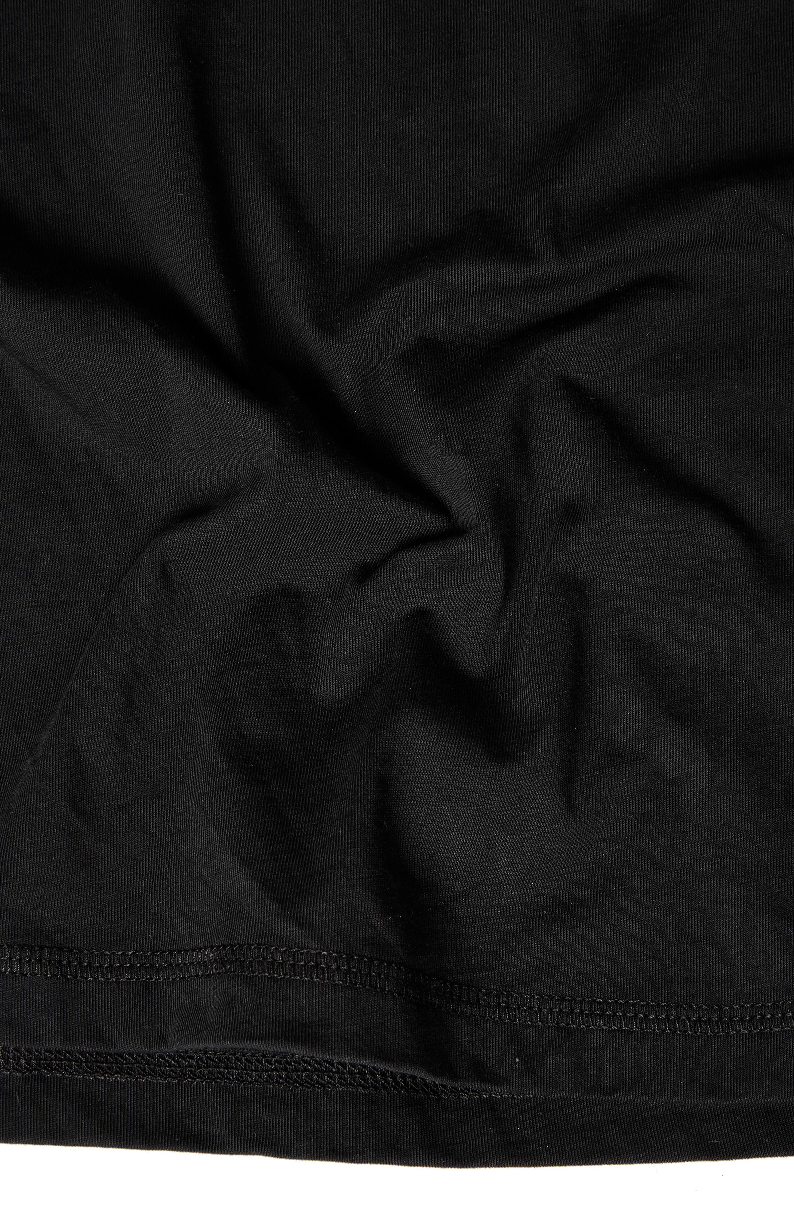 Raw Sleeve Top,                             Alternate thumbnail 3, color,                             Black
