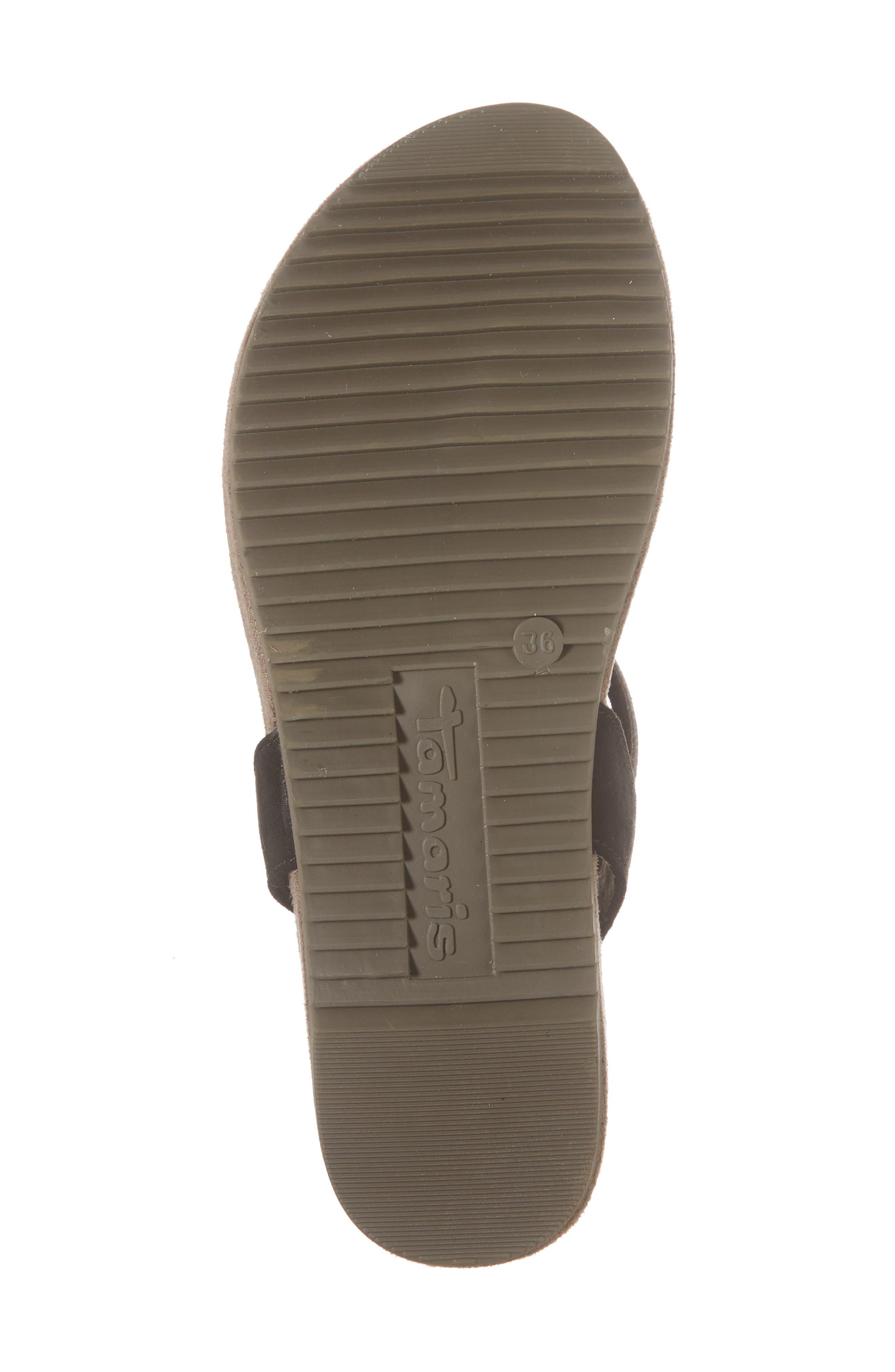 Locust Sandal,                             Alternate thumbnail 6, color,                             Black Fabric