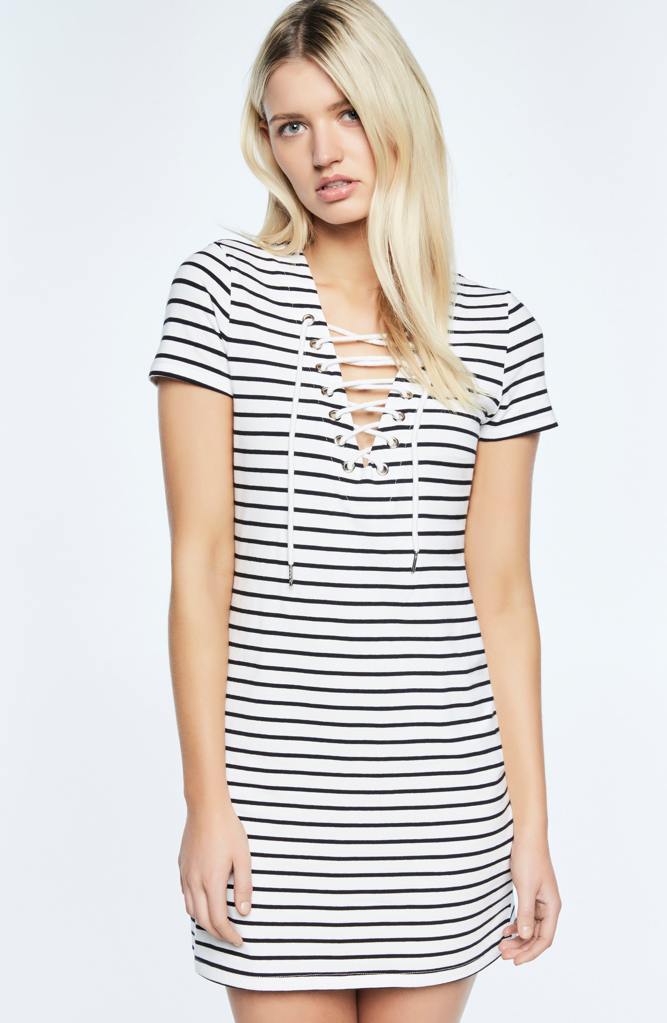 Stripe Shift Dress,                             Alternate thumbnail 6, color,