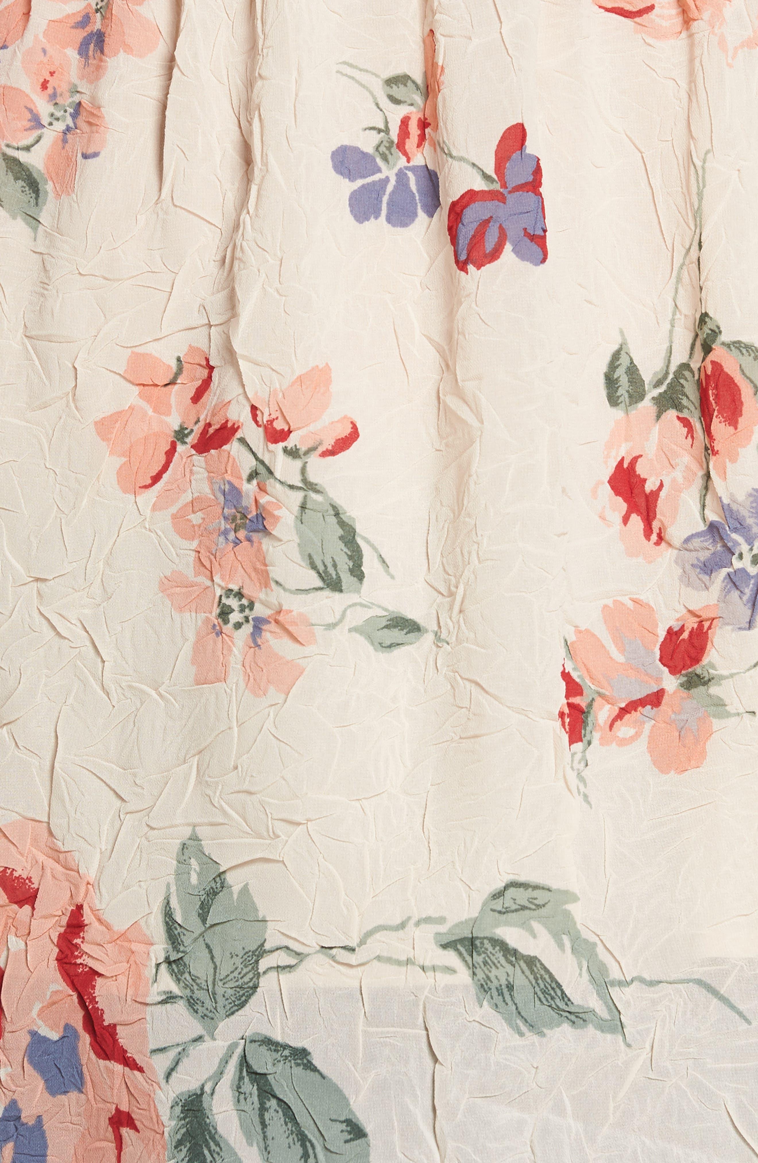 Floral Flutter Top,                             Alternate thumbnail 6, color,                             Pink Multi