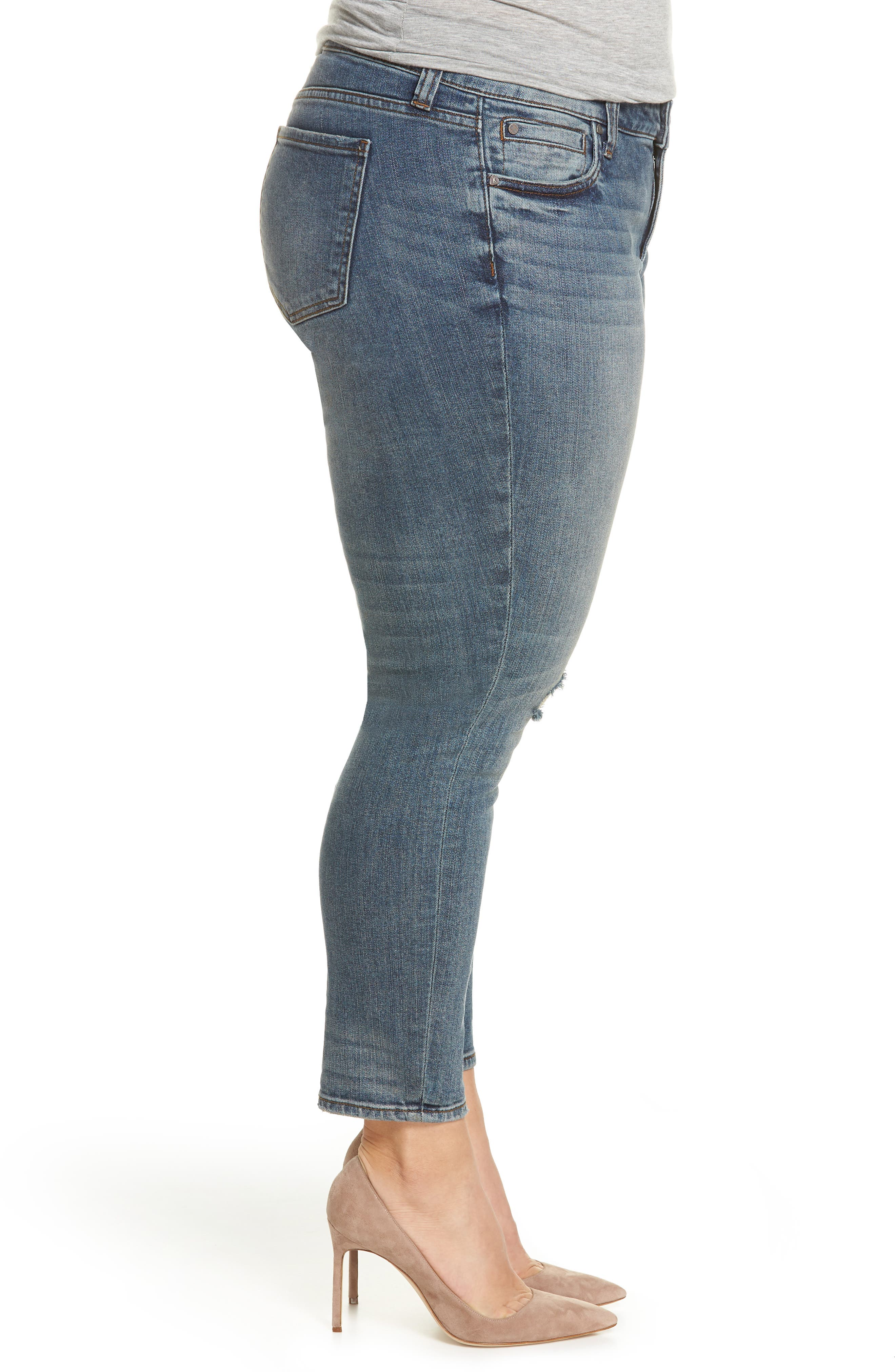 Catherine Ankle Straight Leg Jeans,                             Alternate thumbnail 3, color,                             Increase