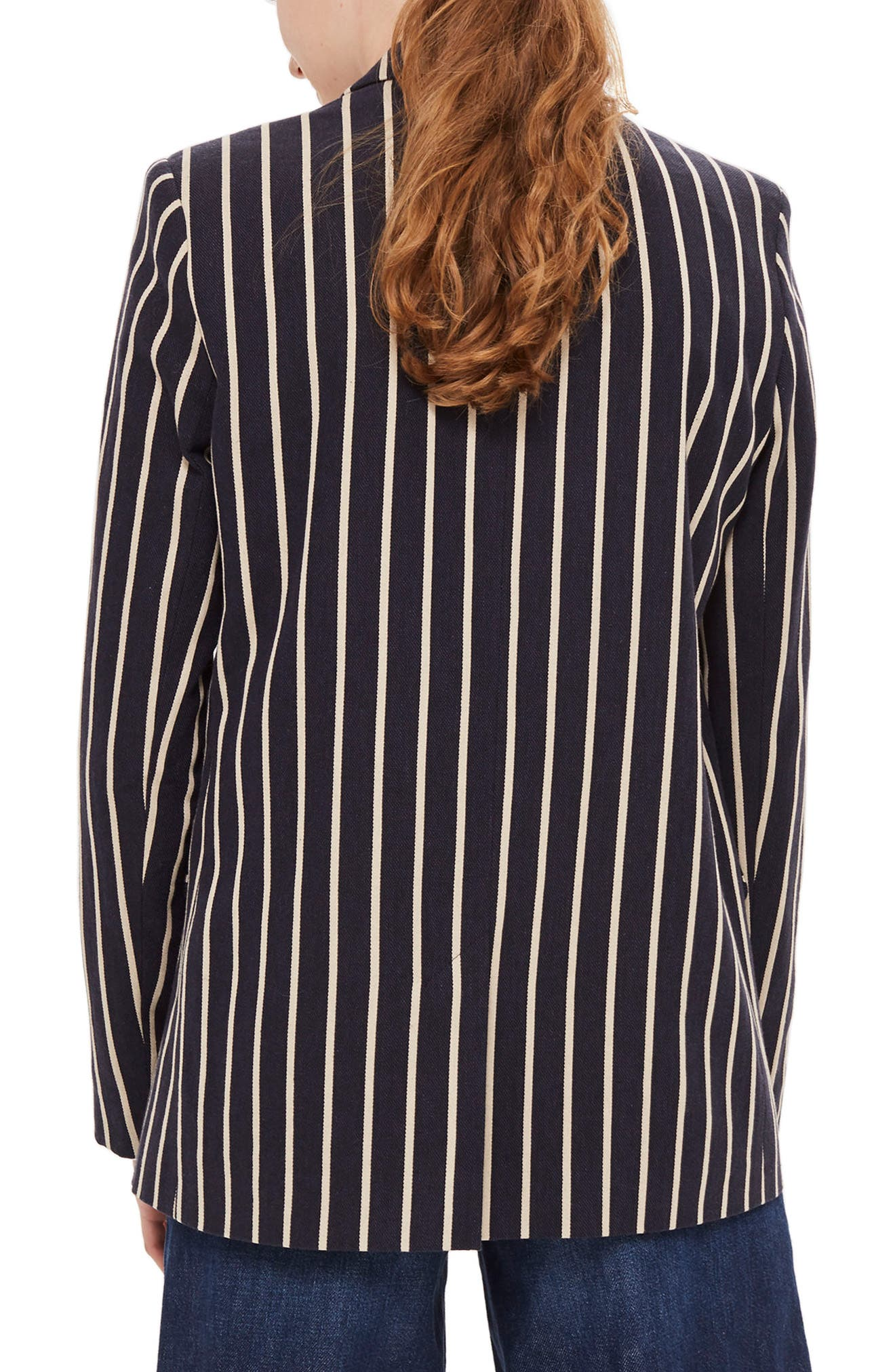 Alternate Image 2  - Topshop Stripe Double Breasted Jacket