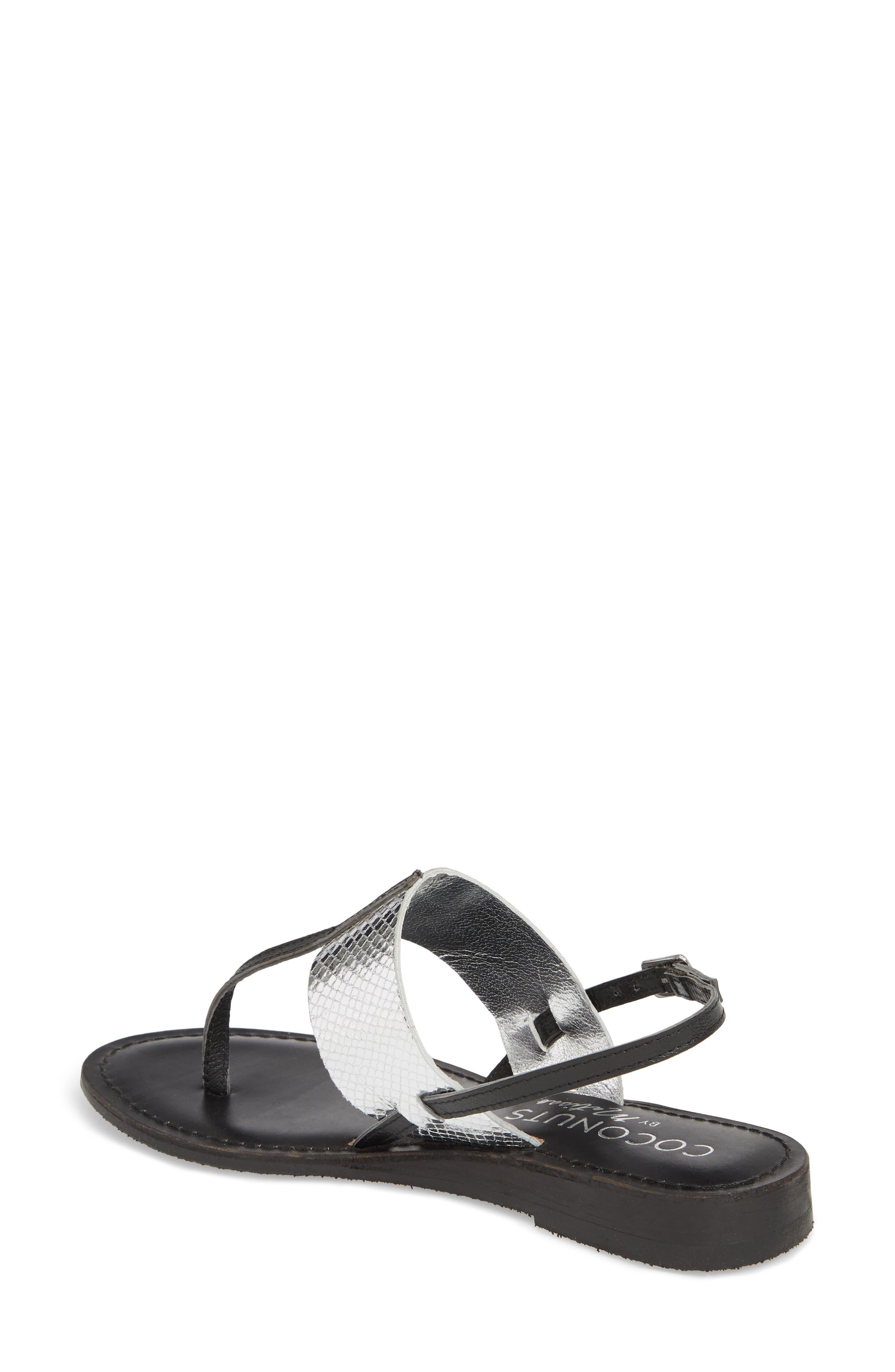 Valenti Sandal,                             Alternate thumbnail 2, color,                             Black Leather