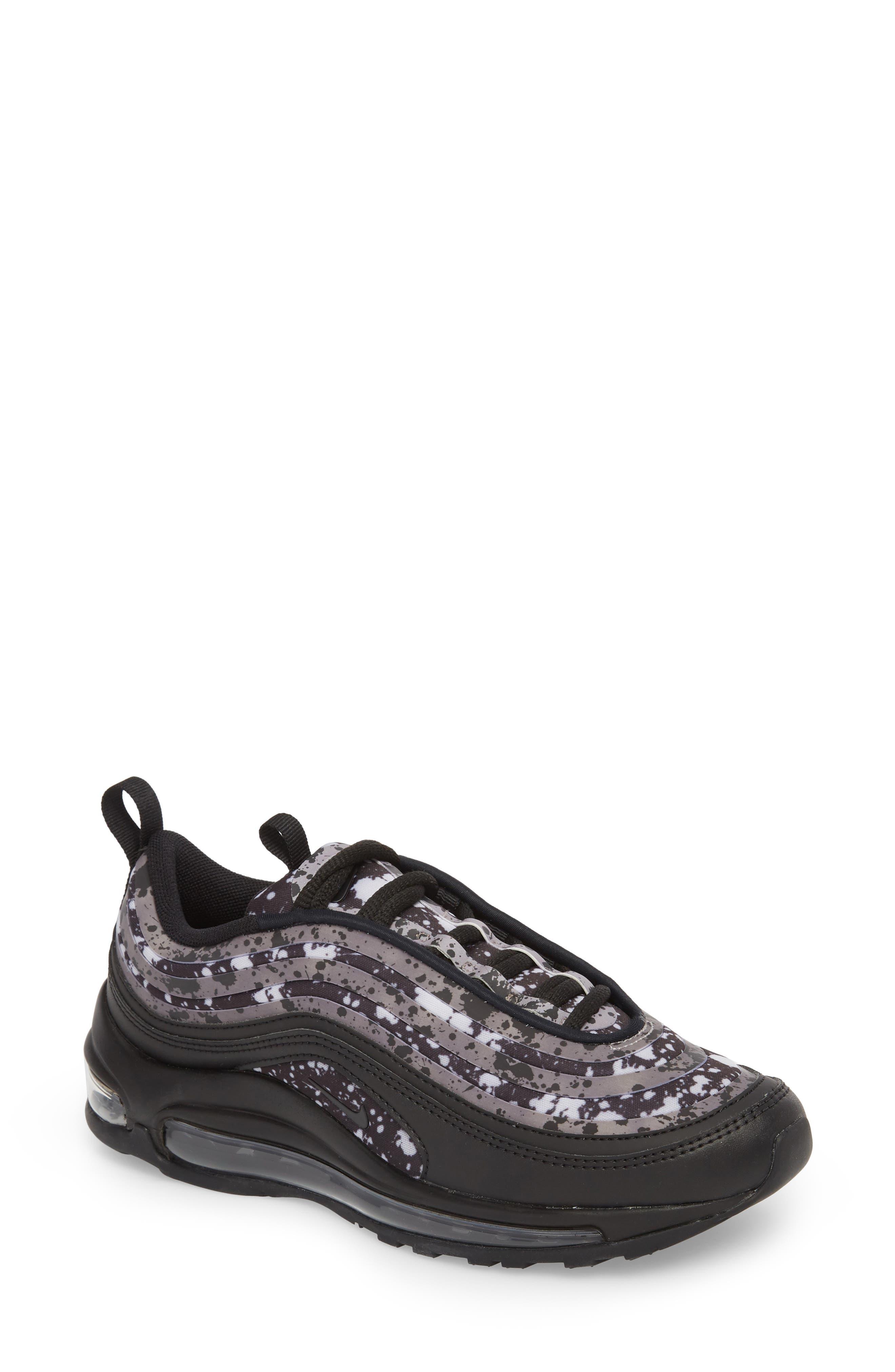 Air Max 97 Ultra '17 Premium Sneaker,                             Main thumbnail 1, color,                             Black/ Black-Vast Grey